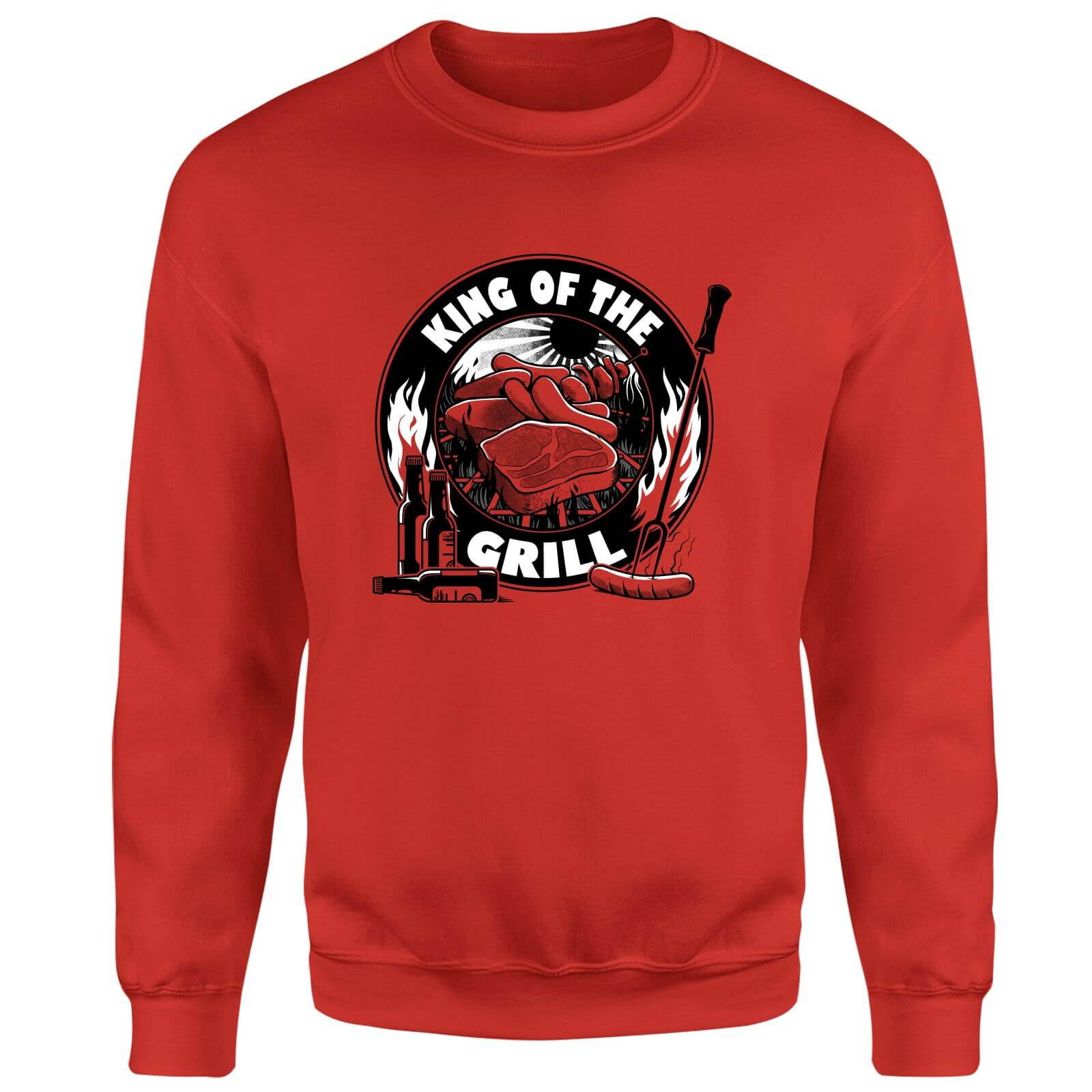 King Of The Grill Sweatshirt - Red