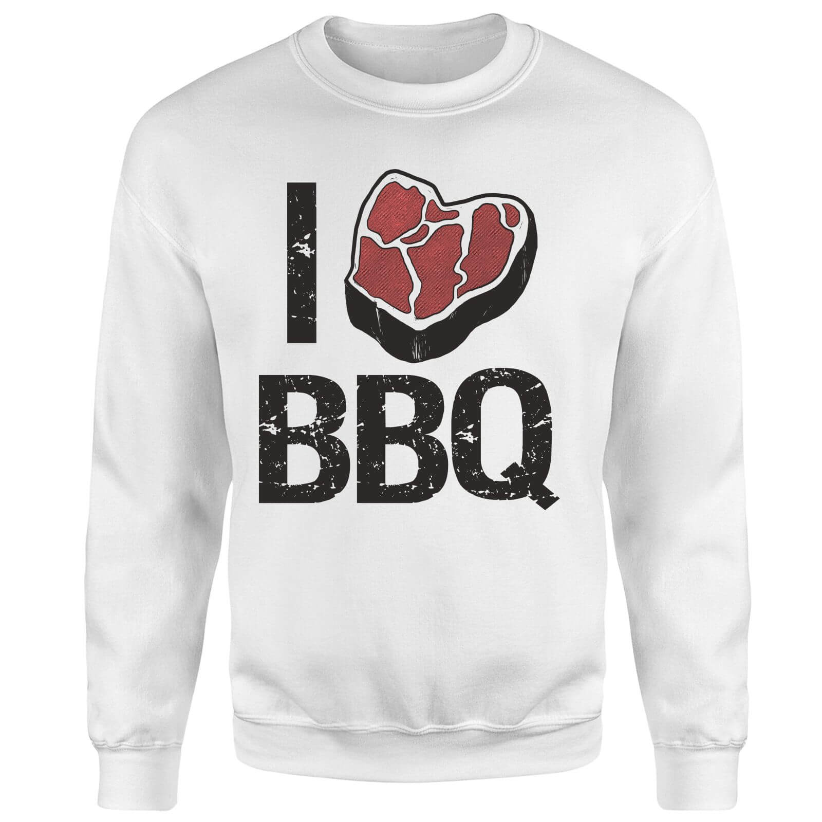 I Love BBQ Sweatshirt - White