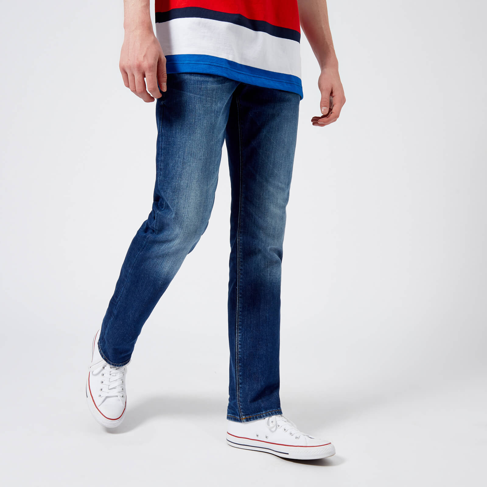 d420f9dc Tommy Hilfiger Men's Core Denton Straight Jeans - Denim Blue Mens Clothing  | TheHut.com