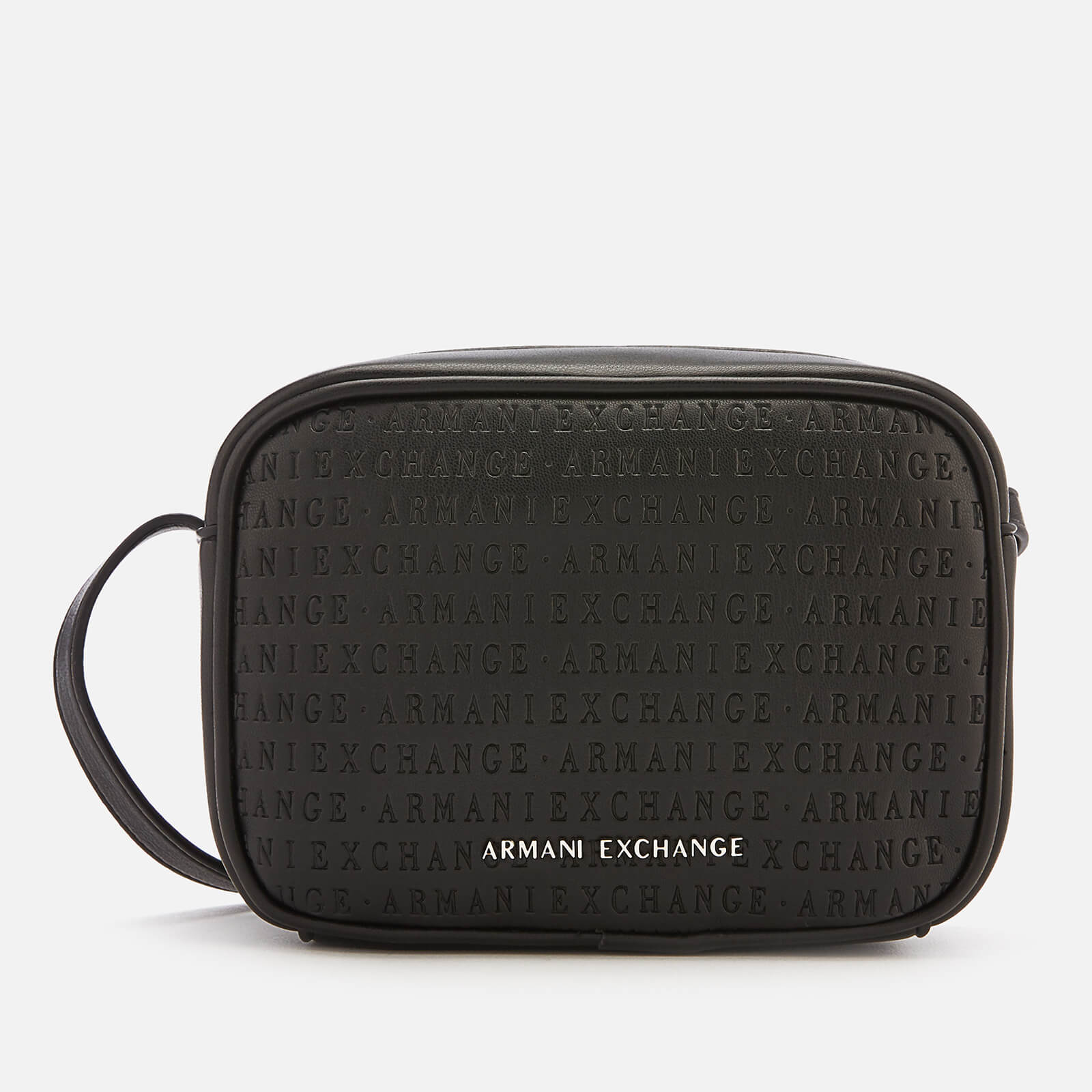fb6282480b Armani Exchange Women's All Over Logo Embossed Cross Body Bag - Black