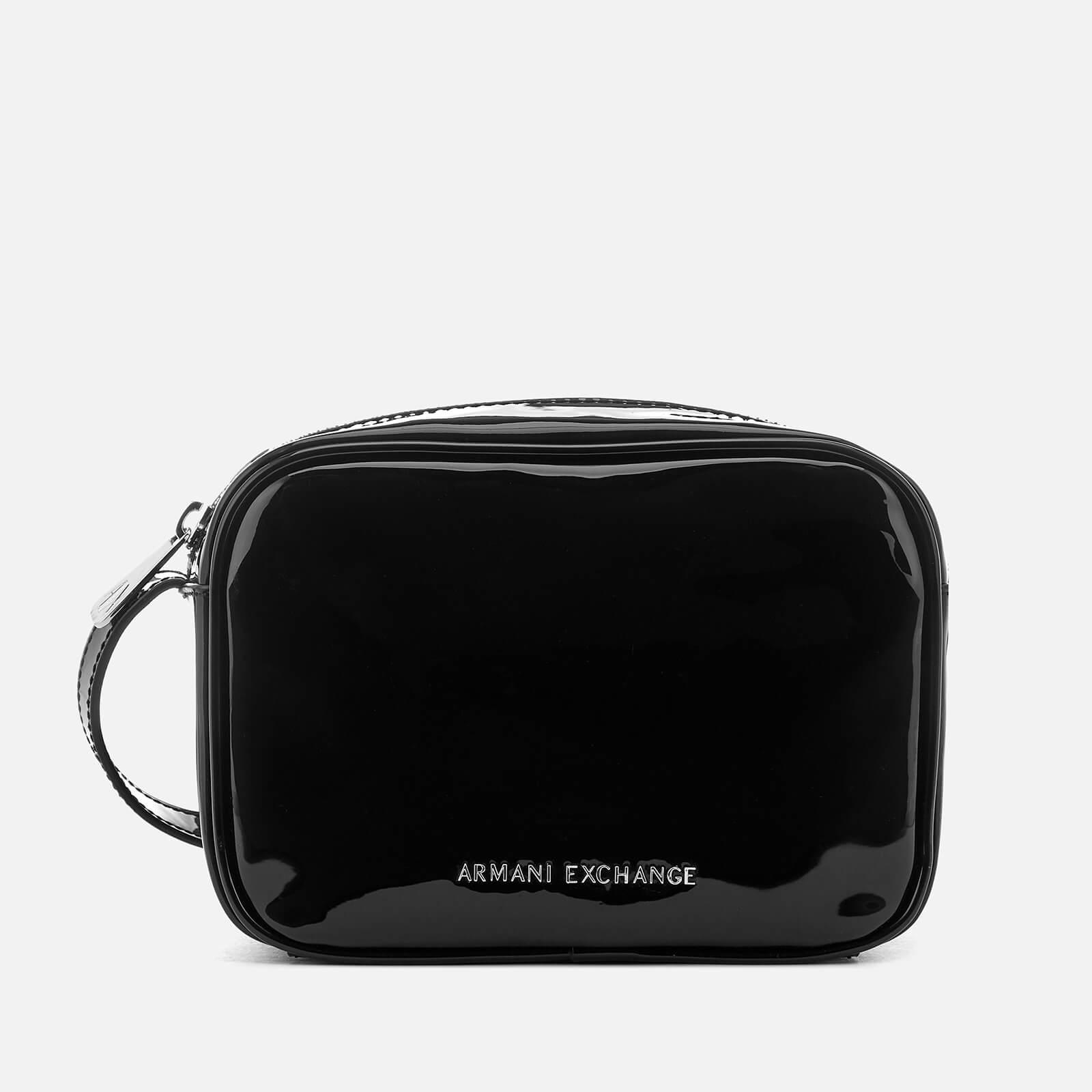 4010a409b4 Armani Exchange Women's Patent Logo Cross Body Bag - Black