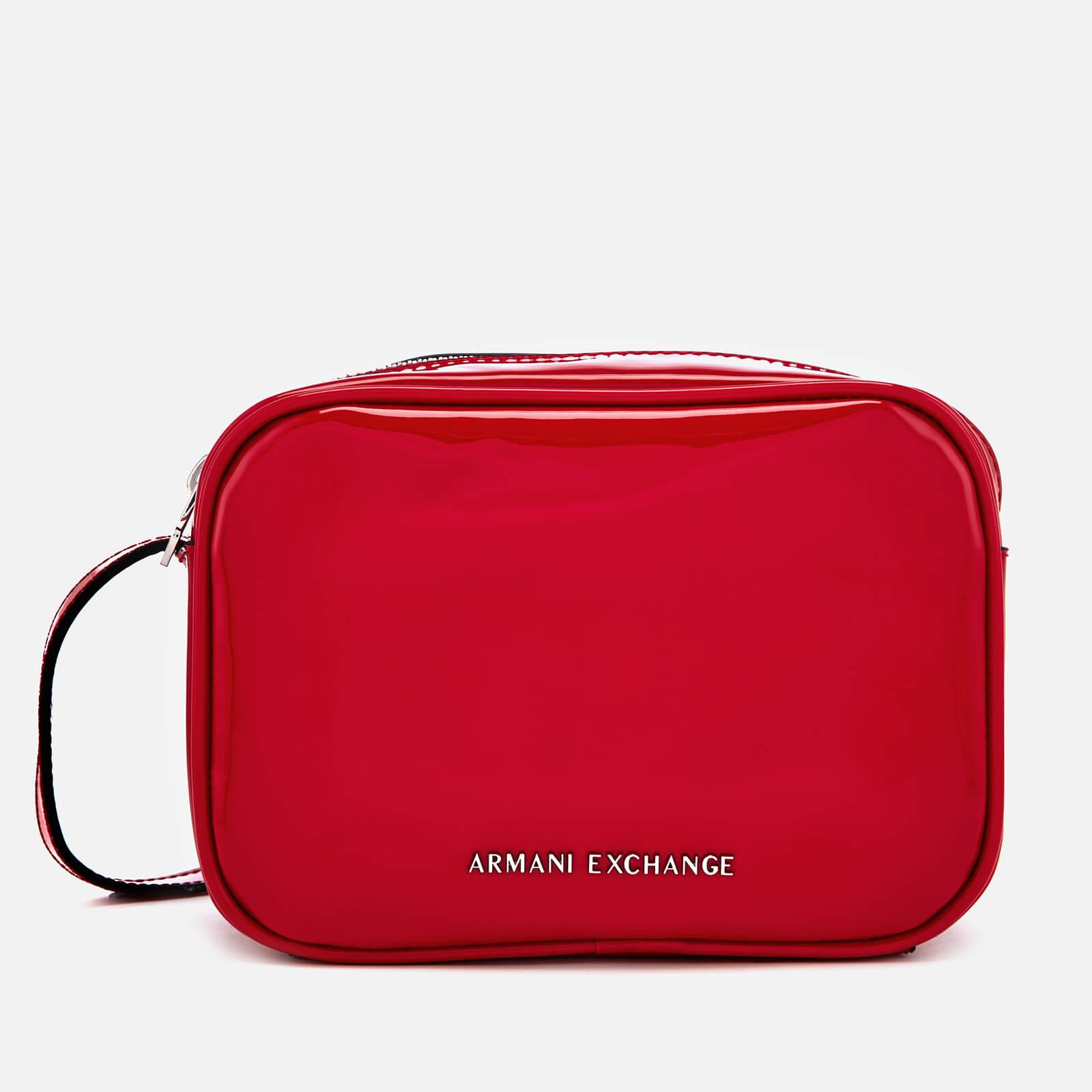 9c52318e Armani Exchange Women's Patent Logo Cross Body Bag - Red