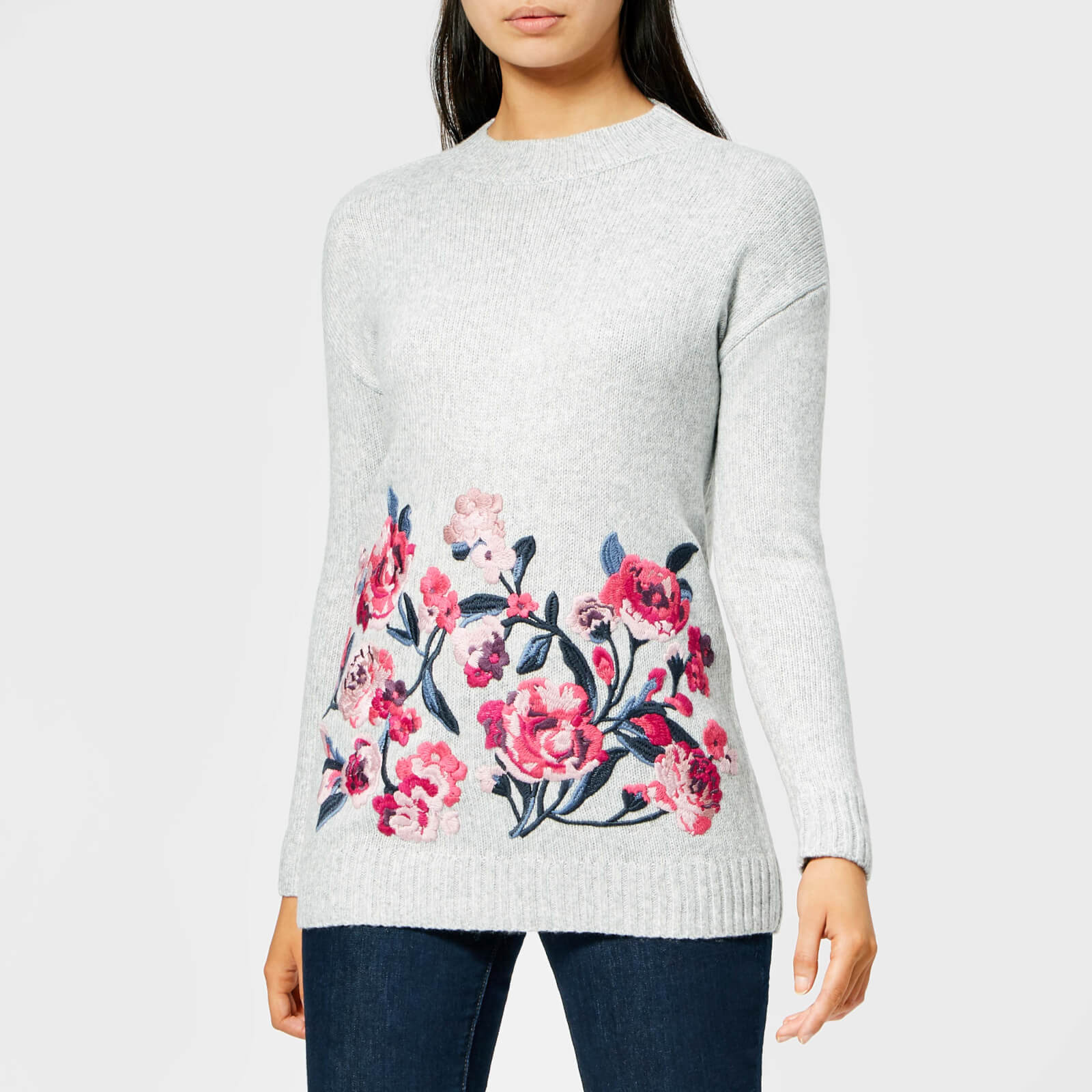 Joules Womens Penny Embroidered Sweater
