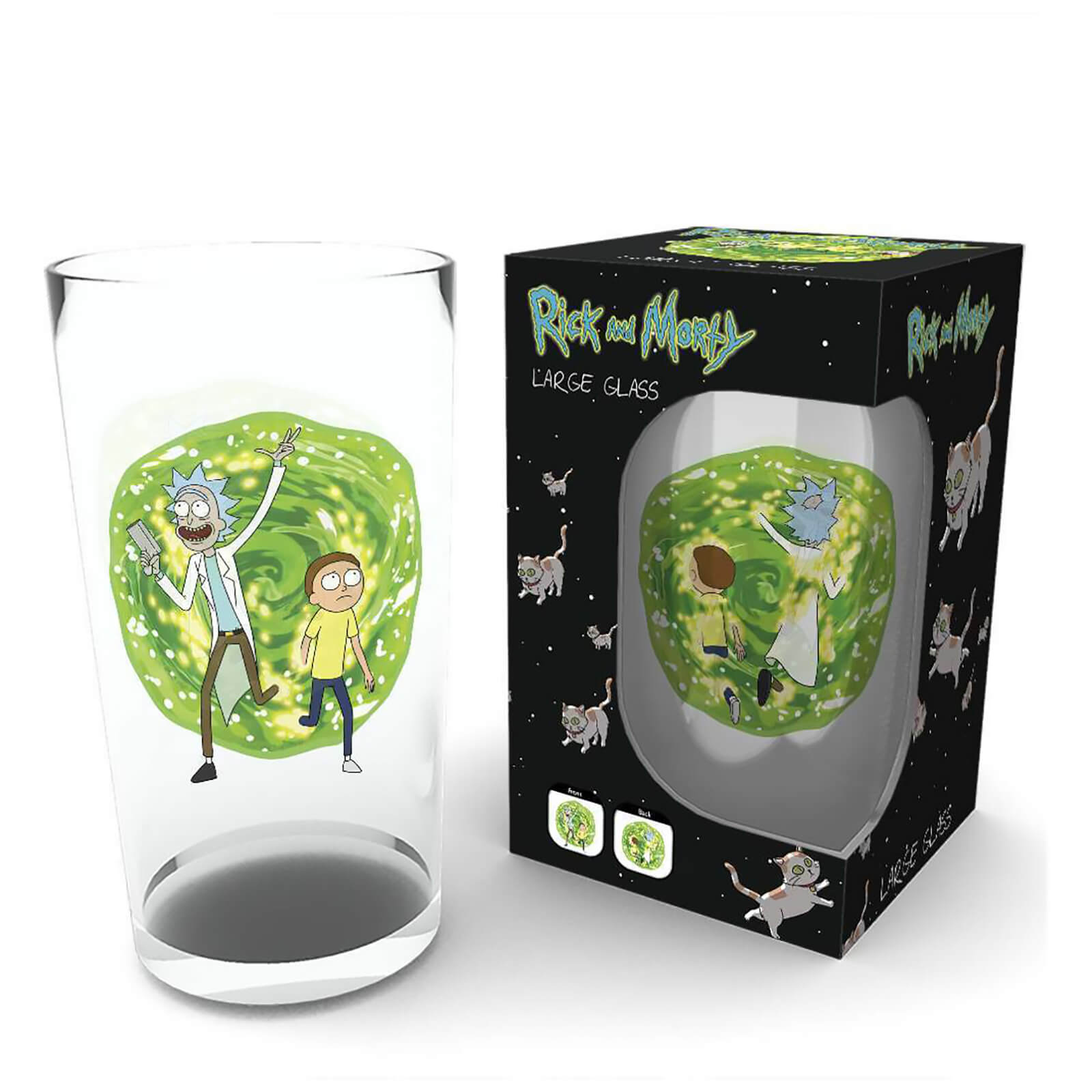 Rick And Morty Portal Large Glasses