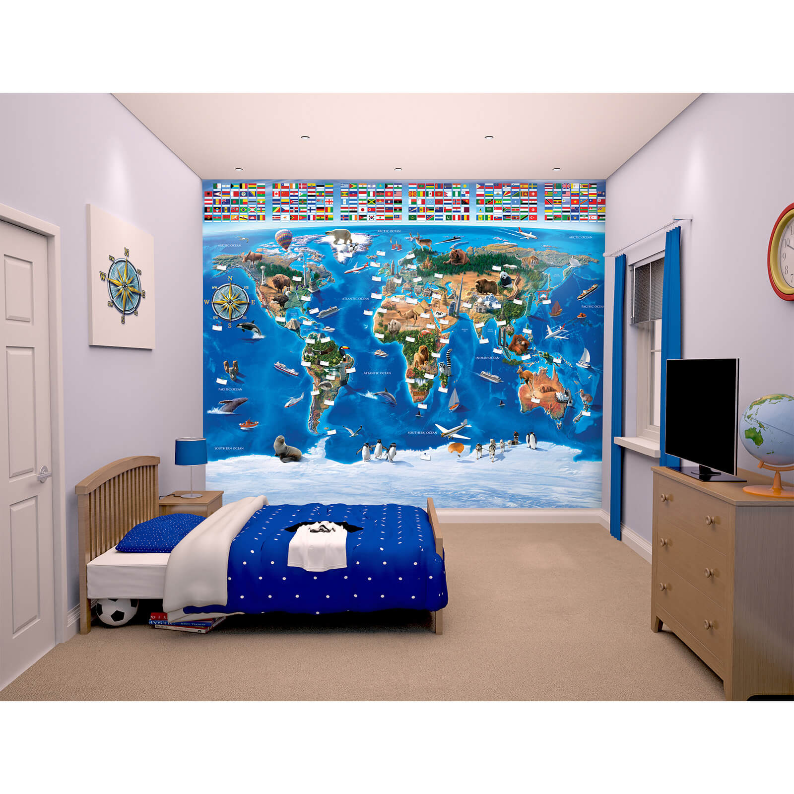 Walltastic Map of the World Wall Mural