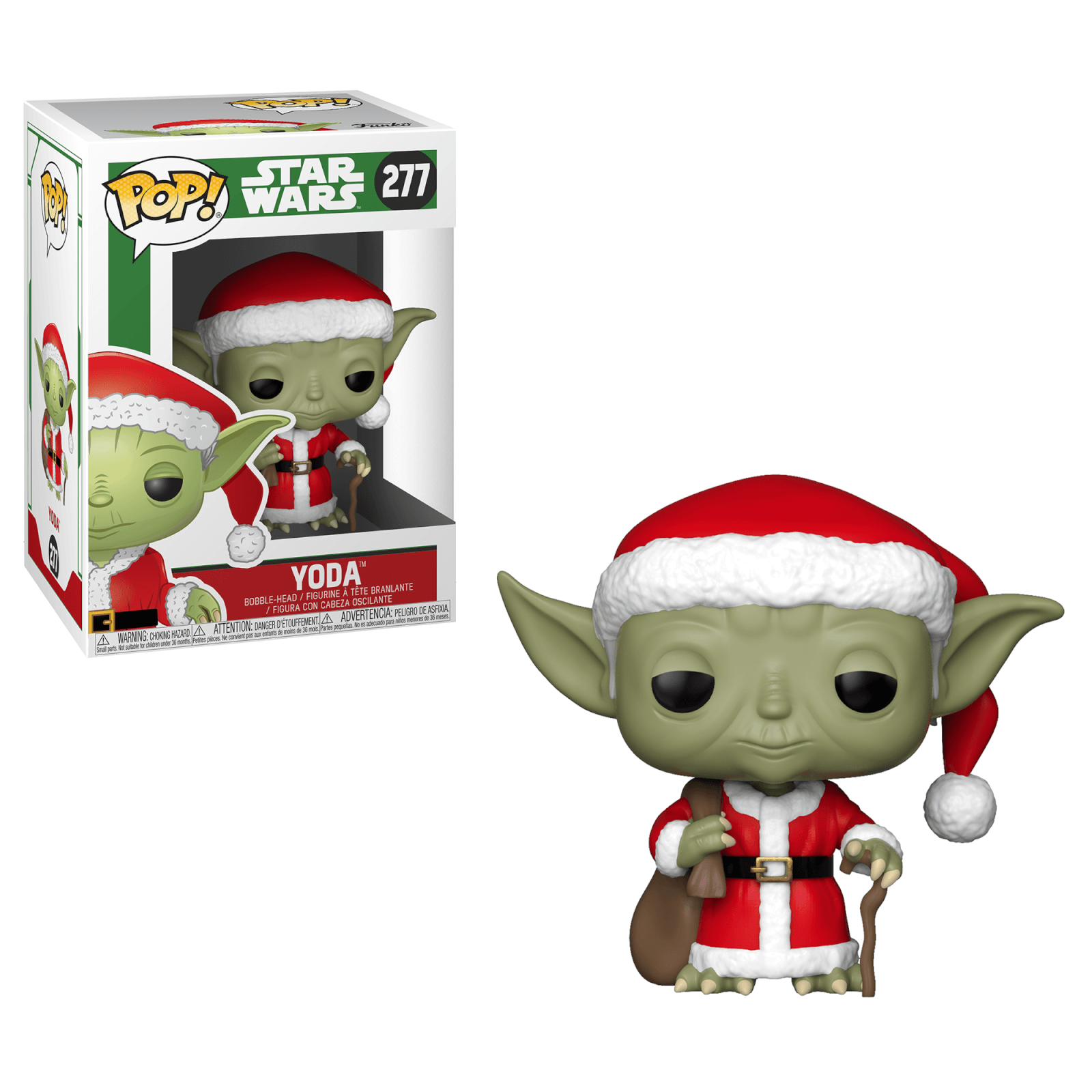Star Wars Holiday Santa Yoda Funko Pop Vinyl Pop In A Box Us