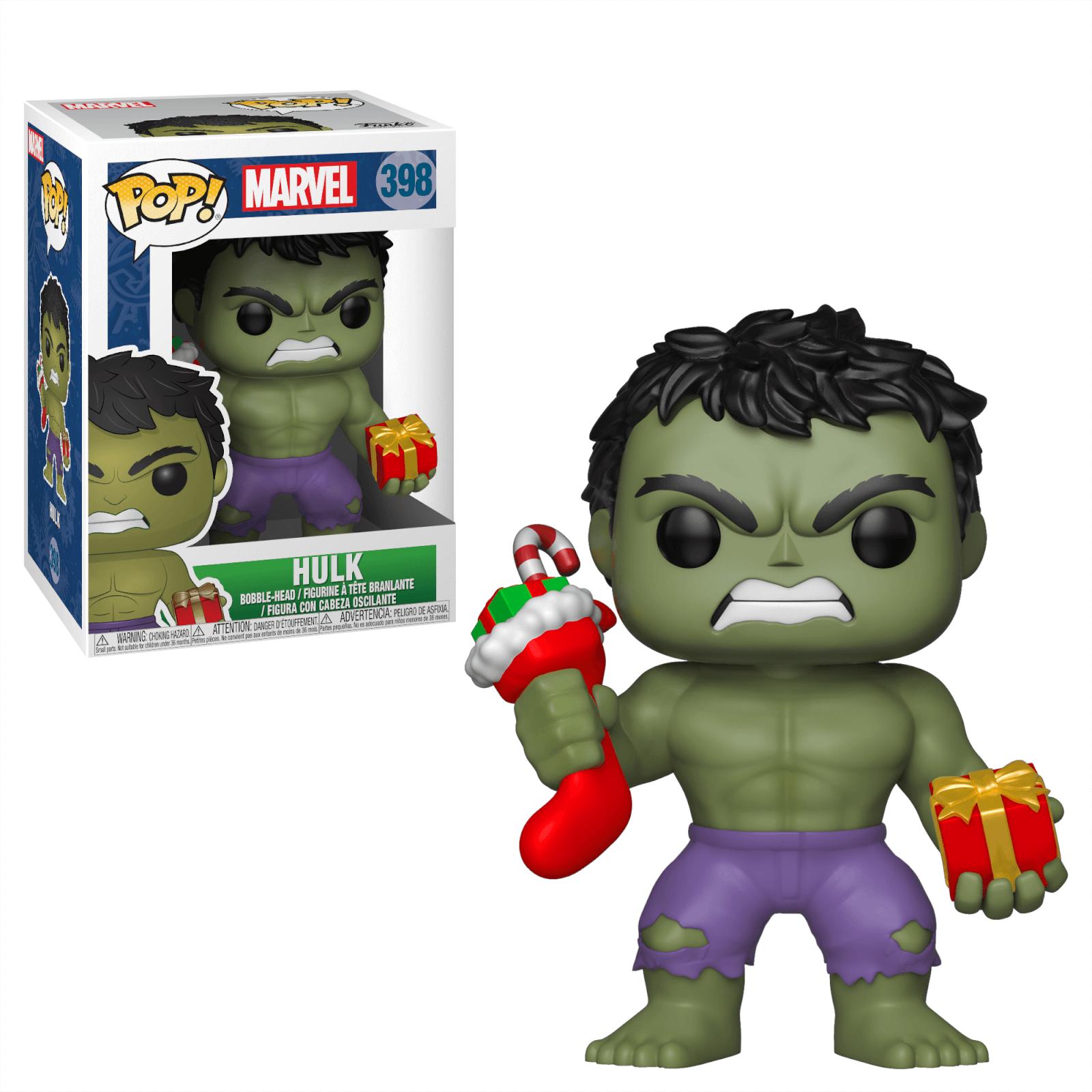 Figurines Pop Hulk Avec Cadeau Et Chaussette Marvel