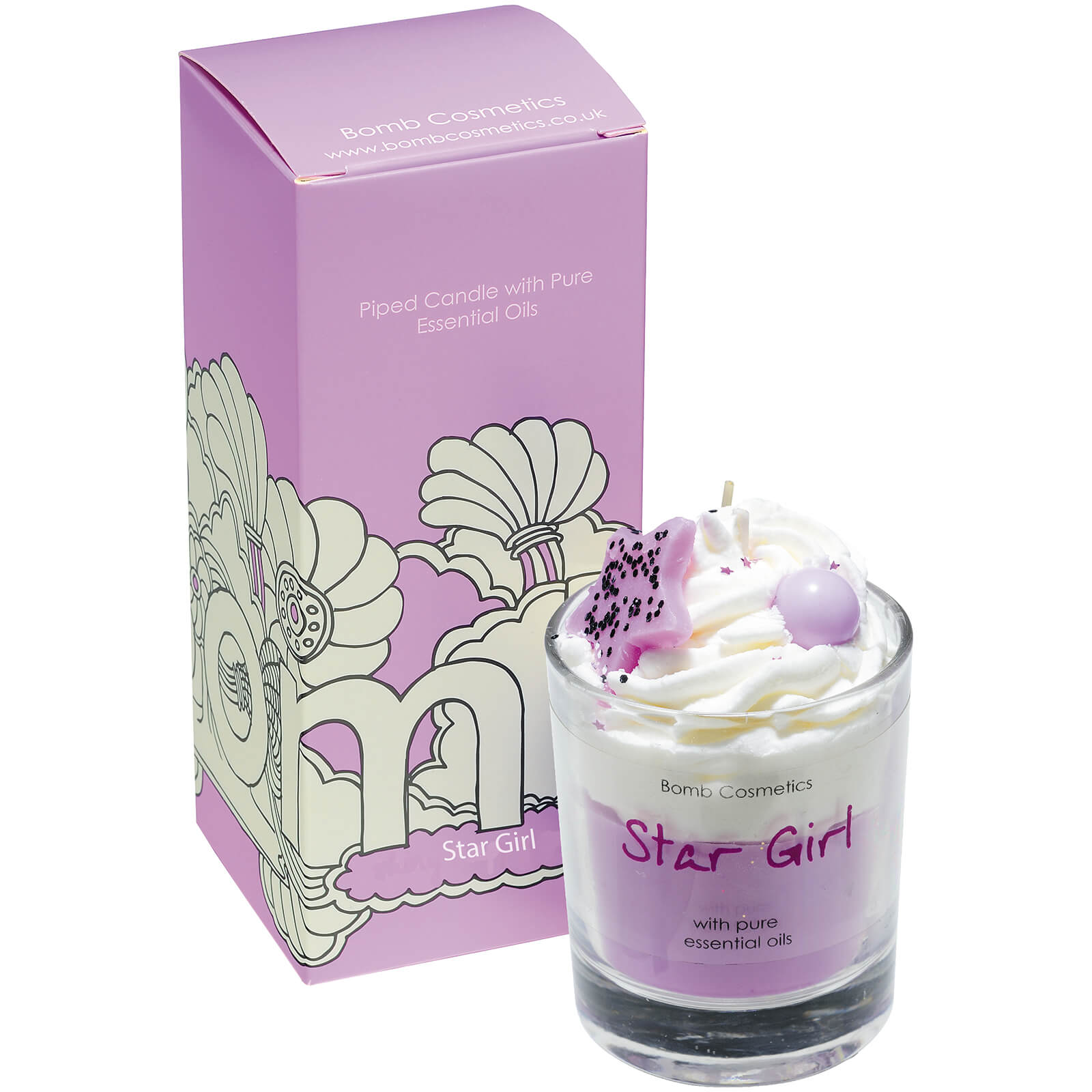 Bomb Cosmetics Star Girl Piped Candle