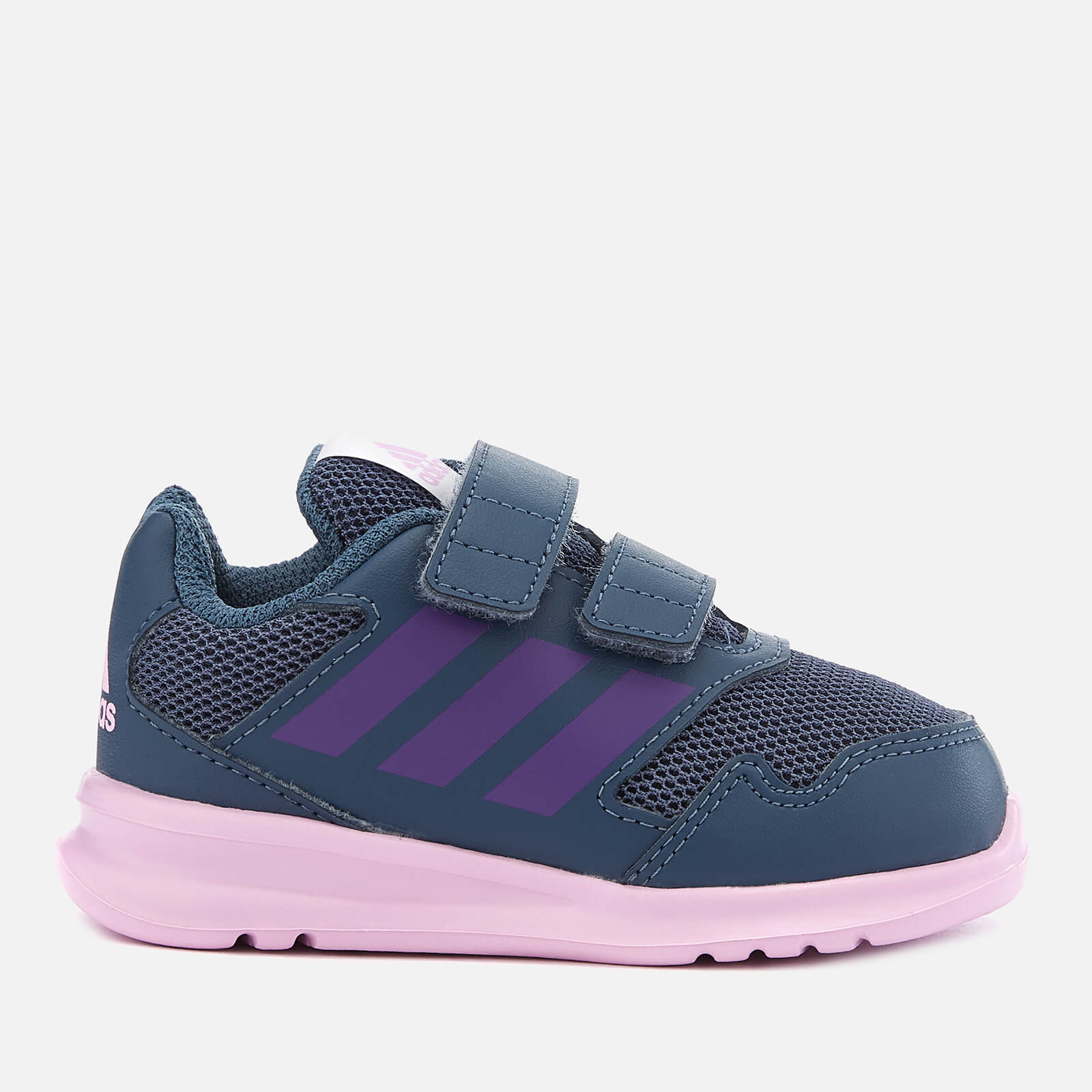 Shoes Adidas Kids Girls Alta Run Cf Infant Trainers Runners Padded Ankle Collar Hook Big Clearance Sale