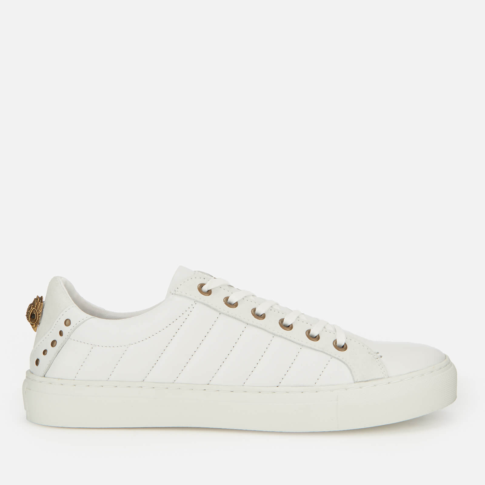 new collection buy popular limited guantity Kurt Geiger London Men's Ludom Leather Cupsole Trainers - White