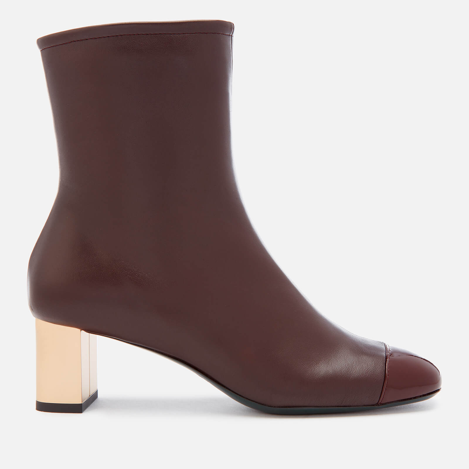 8f2587fcf72 Mulberry Women's Patent Heeled Ankle Boots - Oxblood - Free UK Delivery over  £50