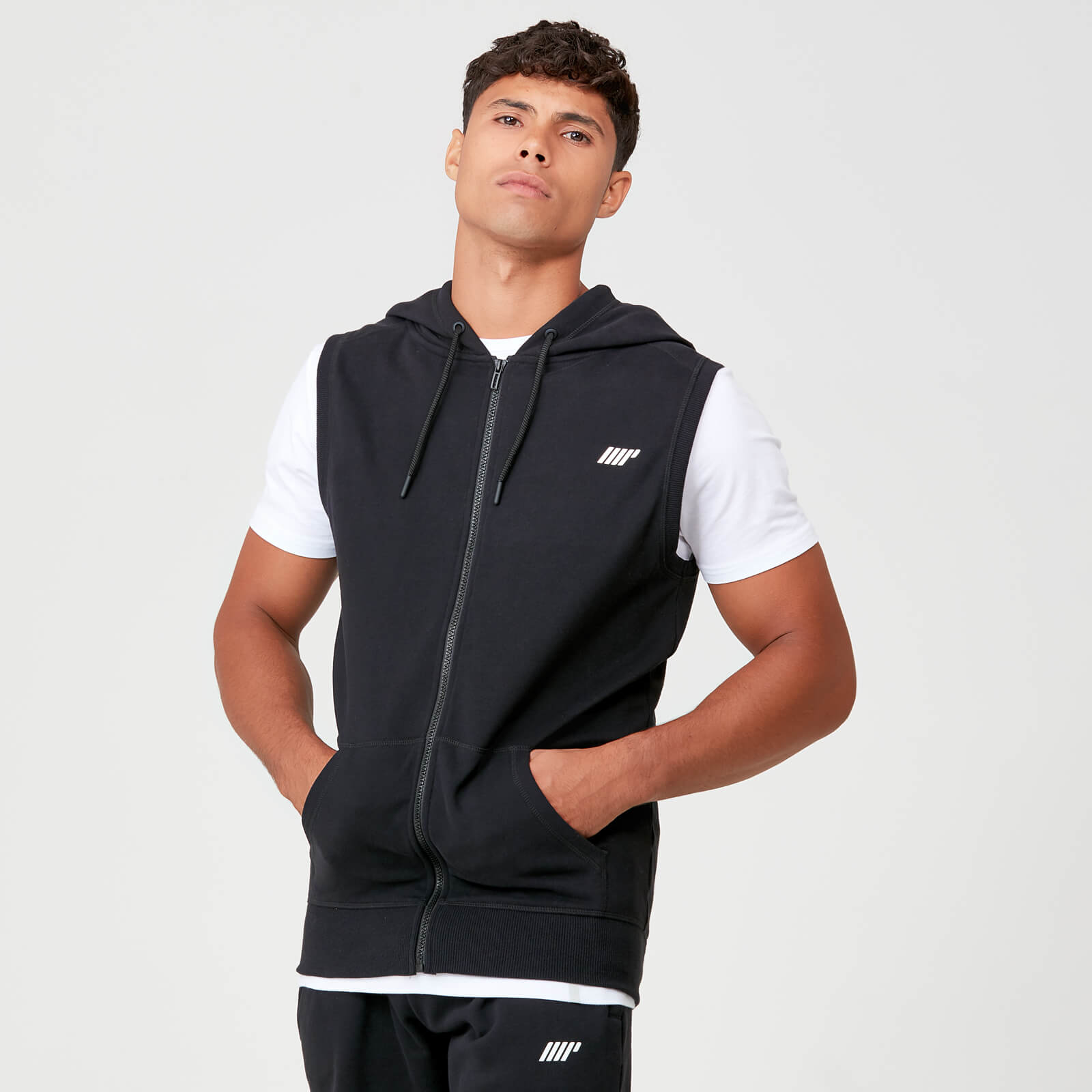 Tru-Fit Sleeveless Hoodie - Black - XS