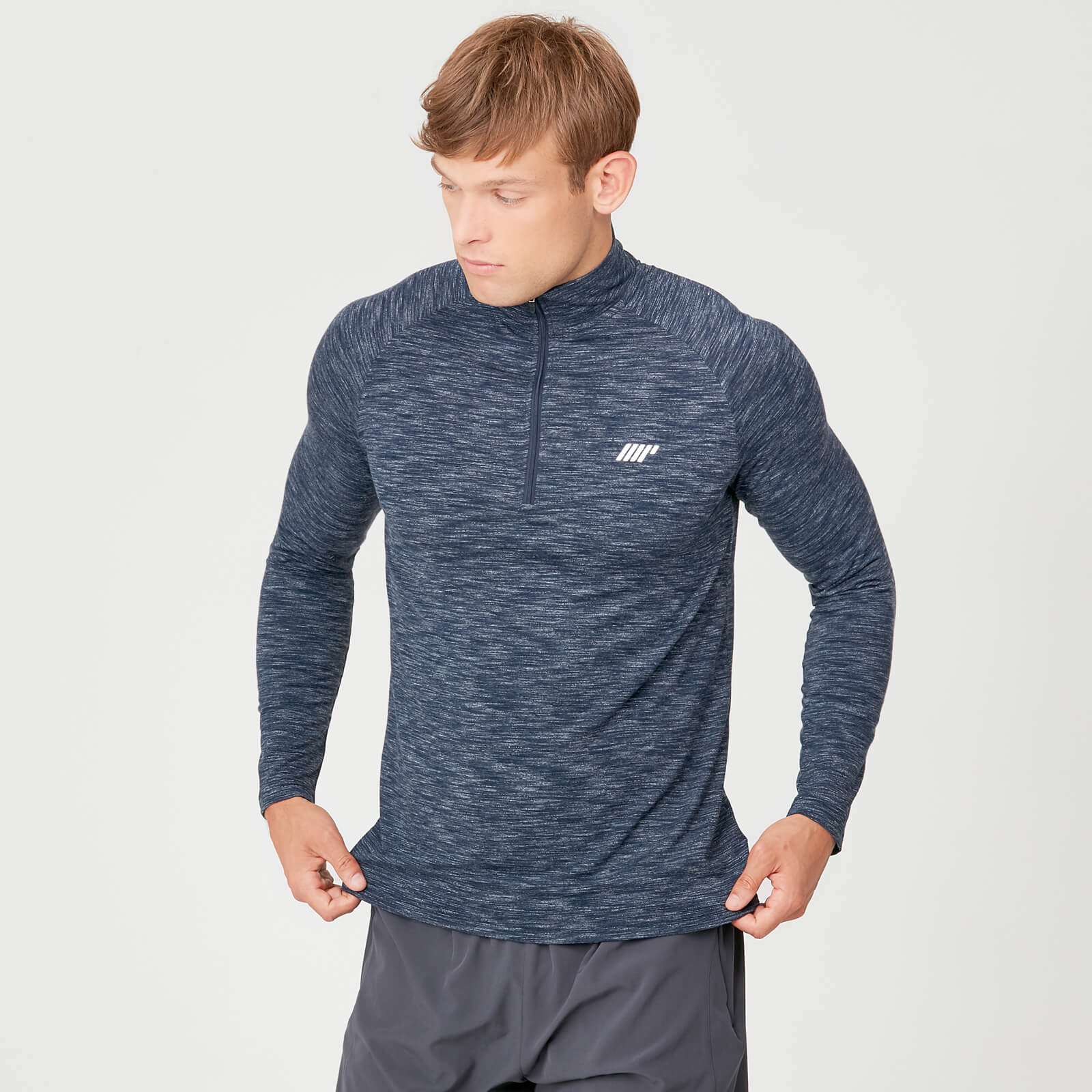 Performance 1/4 Zip Top - Navy Marl - XS