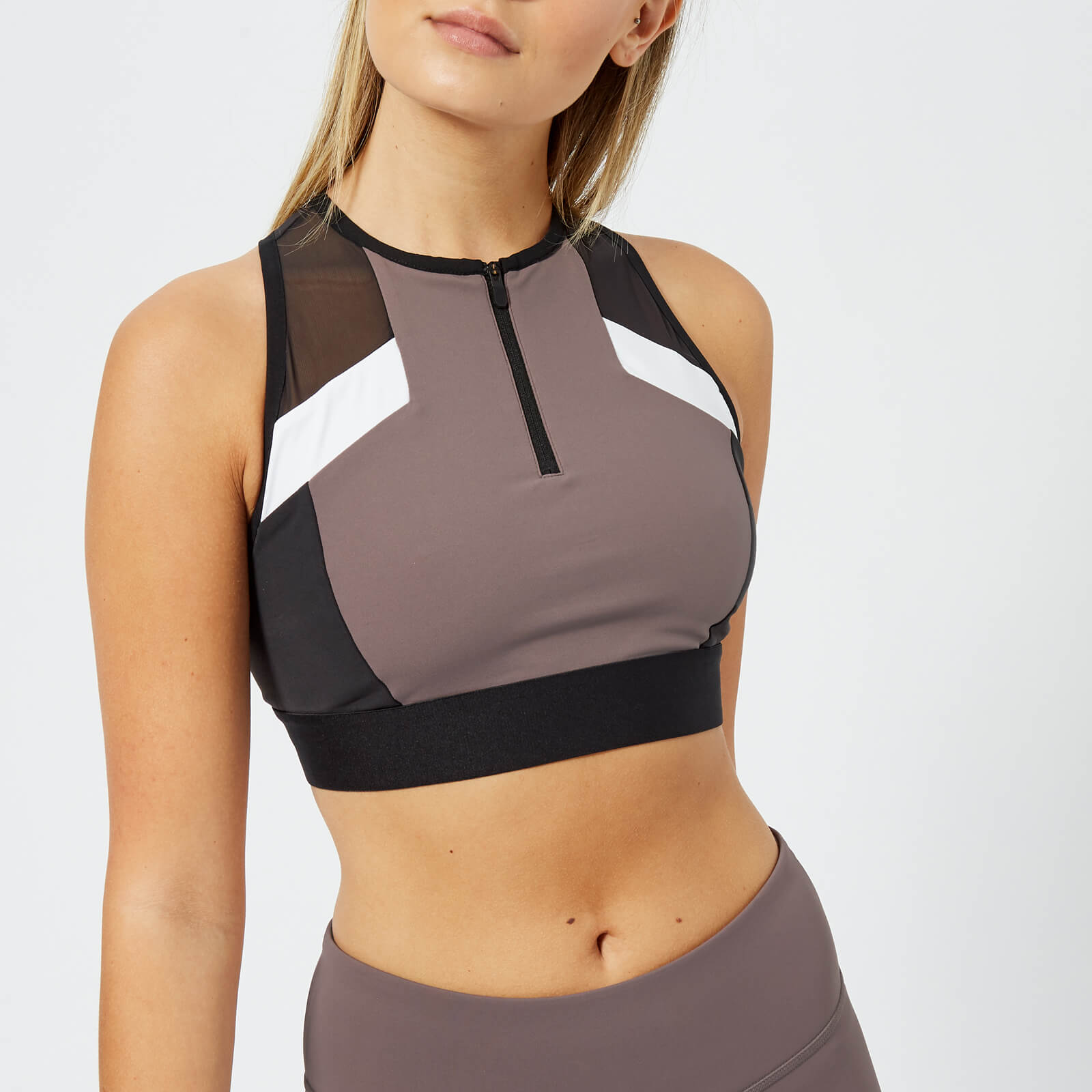 6eda1c282dd612 Reebok Women s Colour Block Crop Top - Almost Grey Sports   Leisure ...