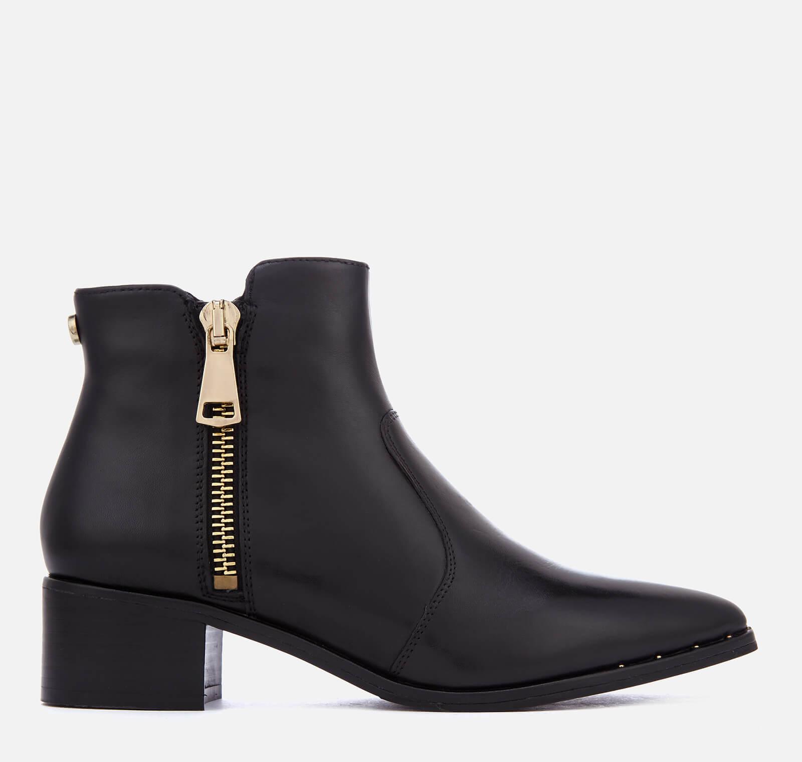 08056e4cf9 Steve Madden Women's Dylles Leather Heeled Ankle Boots - Black Womens  Footwear | TheHut.com