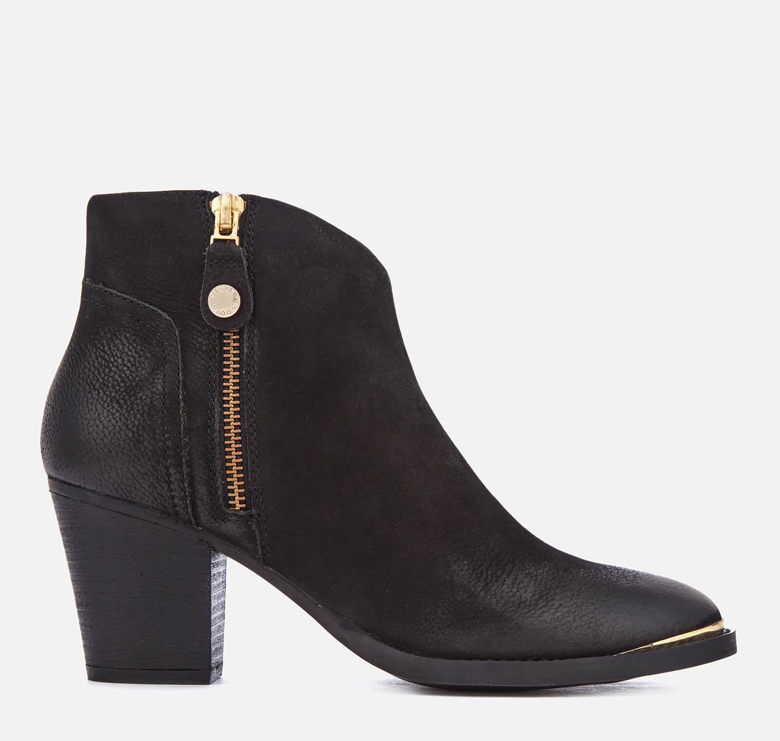 13801eaf862 Steve Madden Women's Francy Nubuck Heeled Ankle Boots - Black