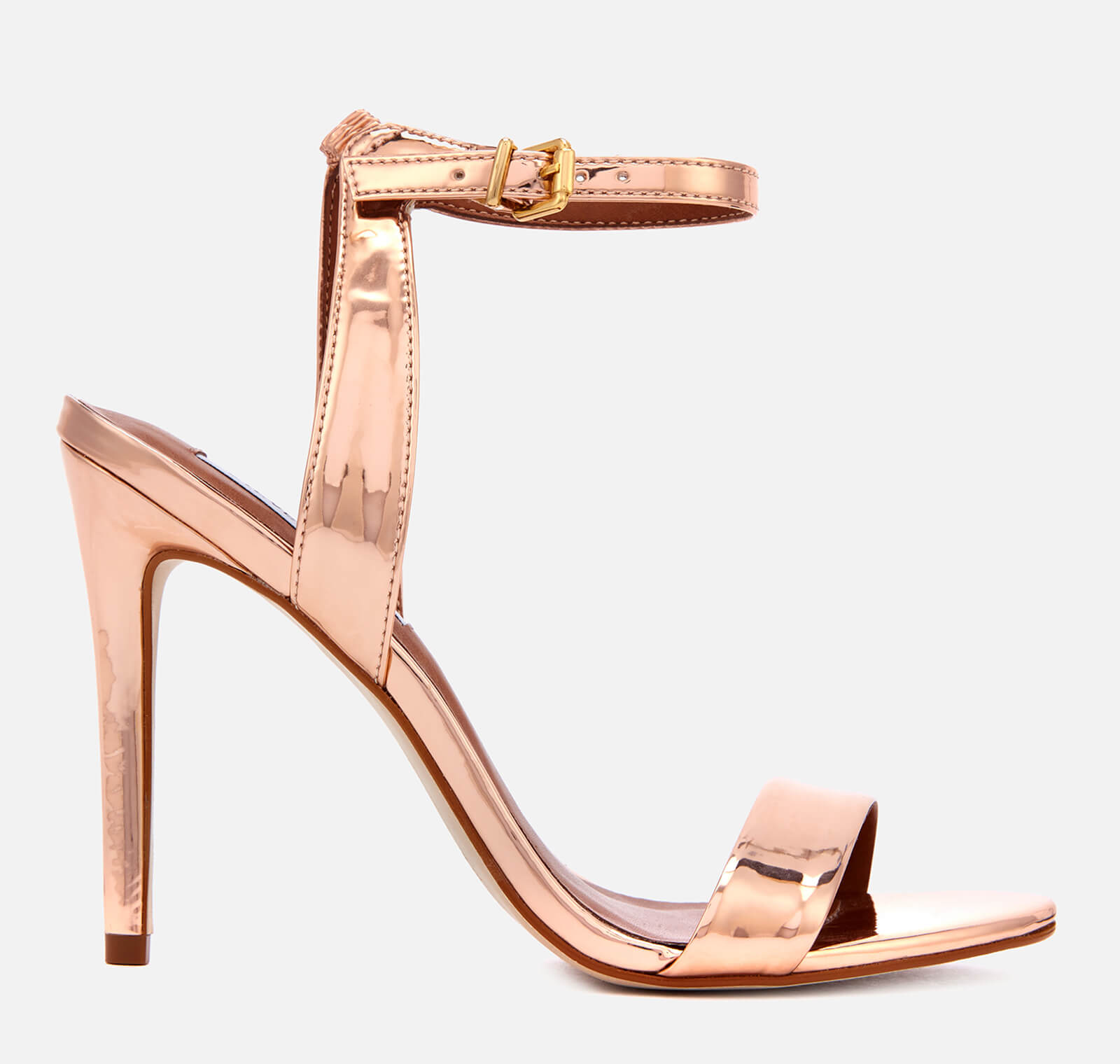a535001119db Steve Madden Women s Landen Barely There Heeled Sandals - Rose Gold Womens  Footwear