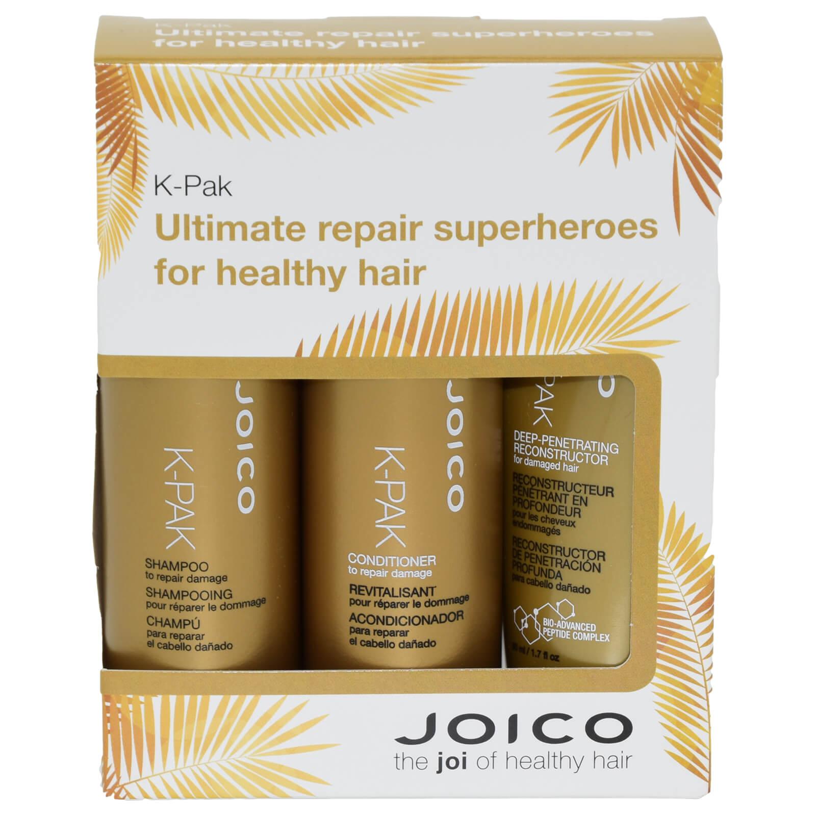 Joico K-Pak Trio Travel Set - Shampoo 50ml & Conditioner 50ml & Deep  Penetrating Reconstructor 50ml