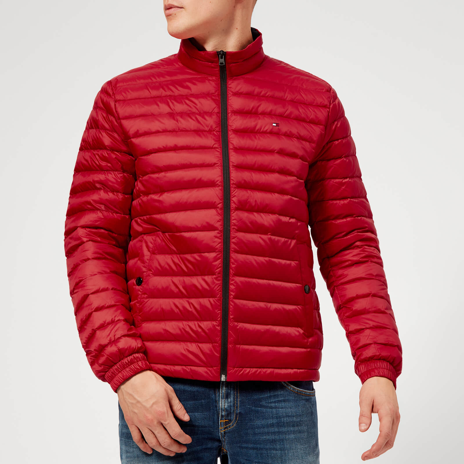 9f293c62 Tommy Hilfiger Men's Lightweight Packable Down Jacket - Haute Red Clothing  | TheHut.com