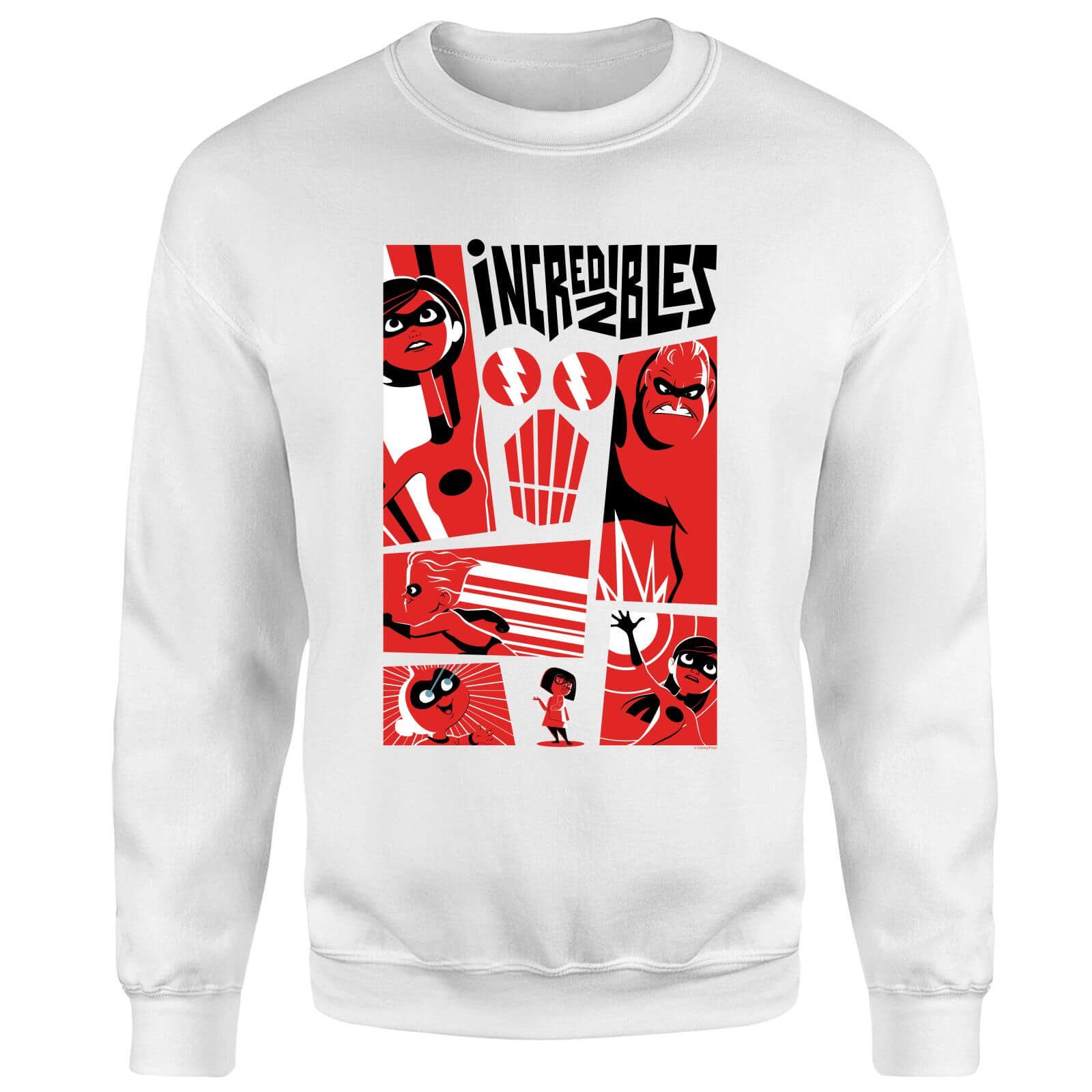 The Incredibles 2 Poster Sweatshirt - White