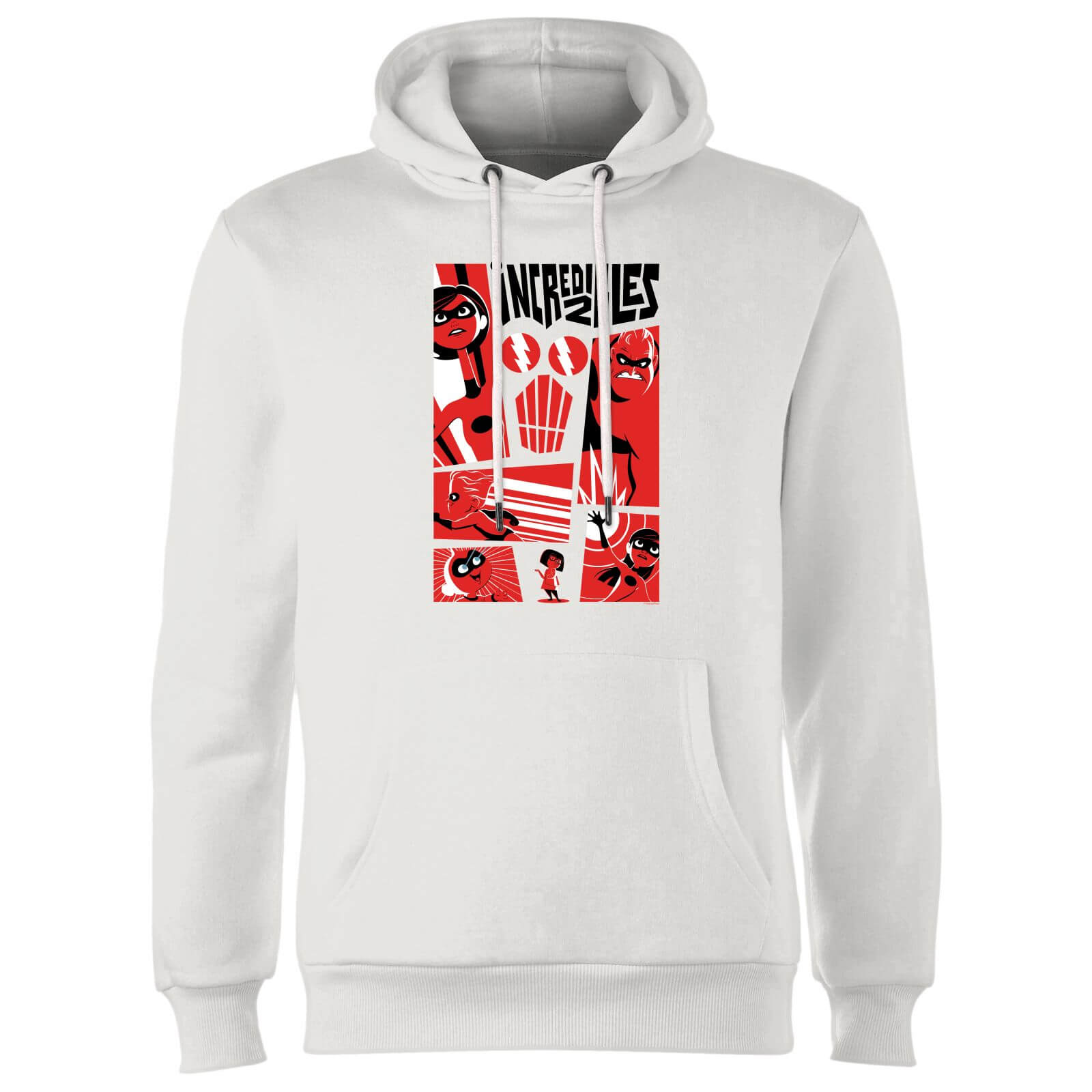 The Incredibles 2 Poster Hoodie - White