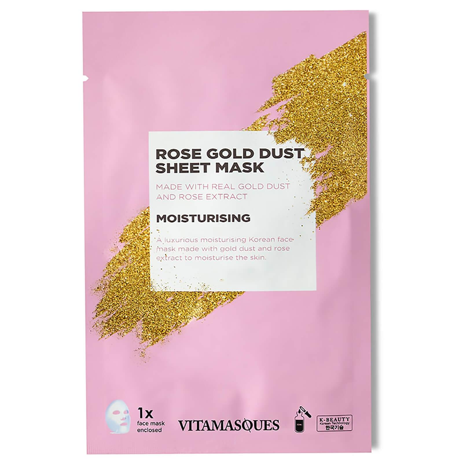 Vitamasques Gold Dust Sheet Mask - Rose