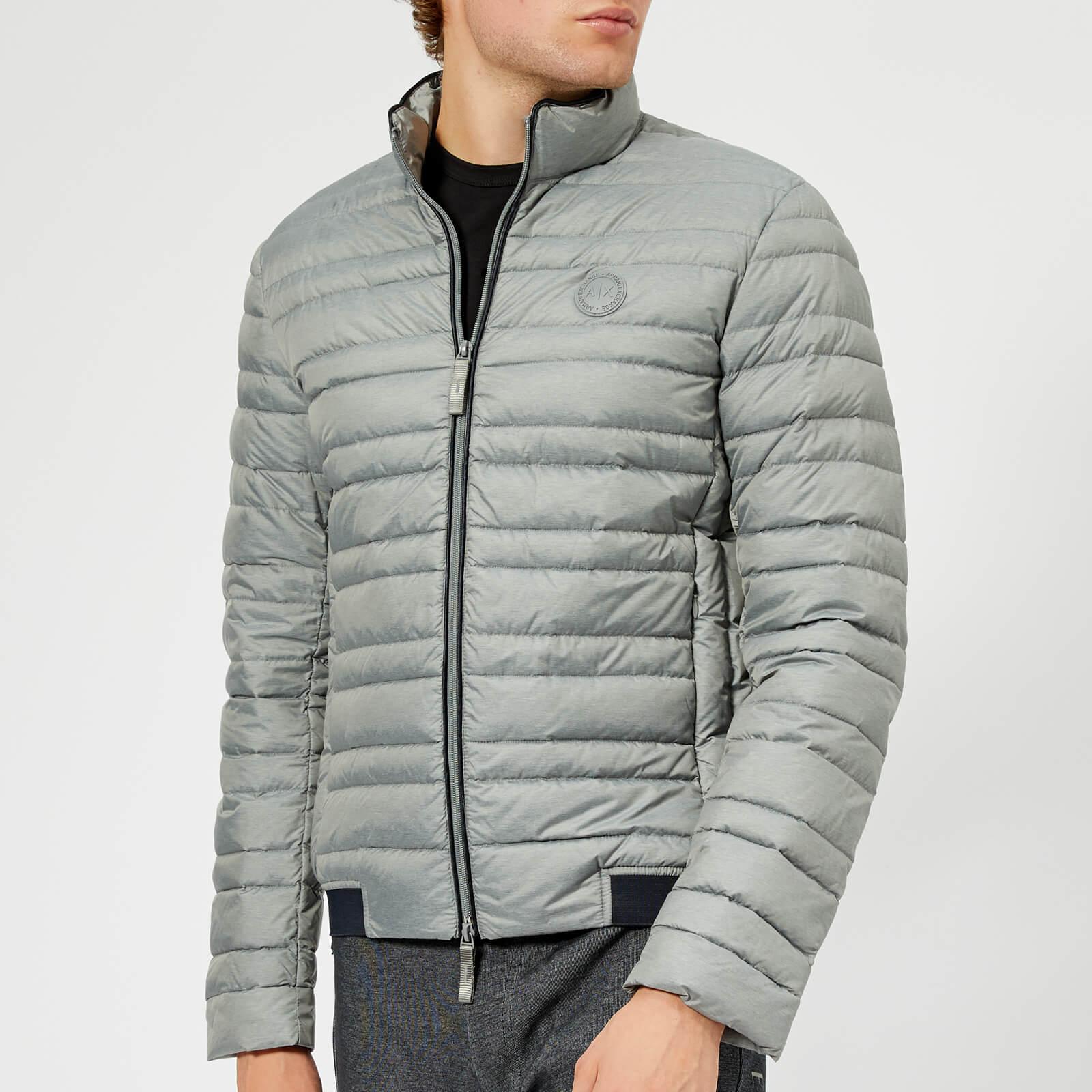 5df7ad156a Armani Exchange Men's Down Jacket - Grey/Navy