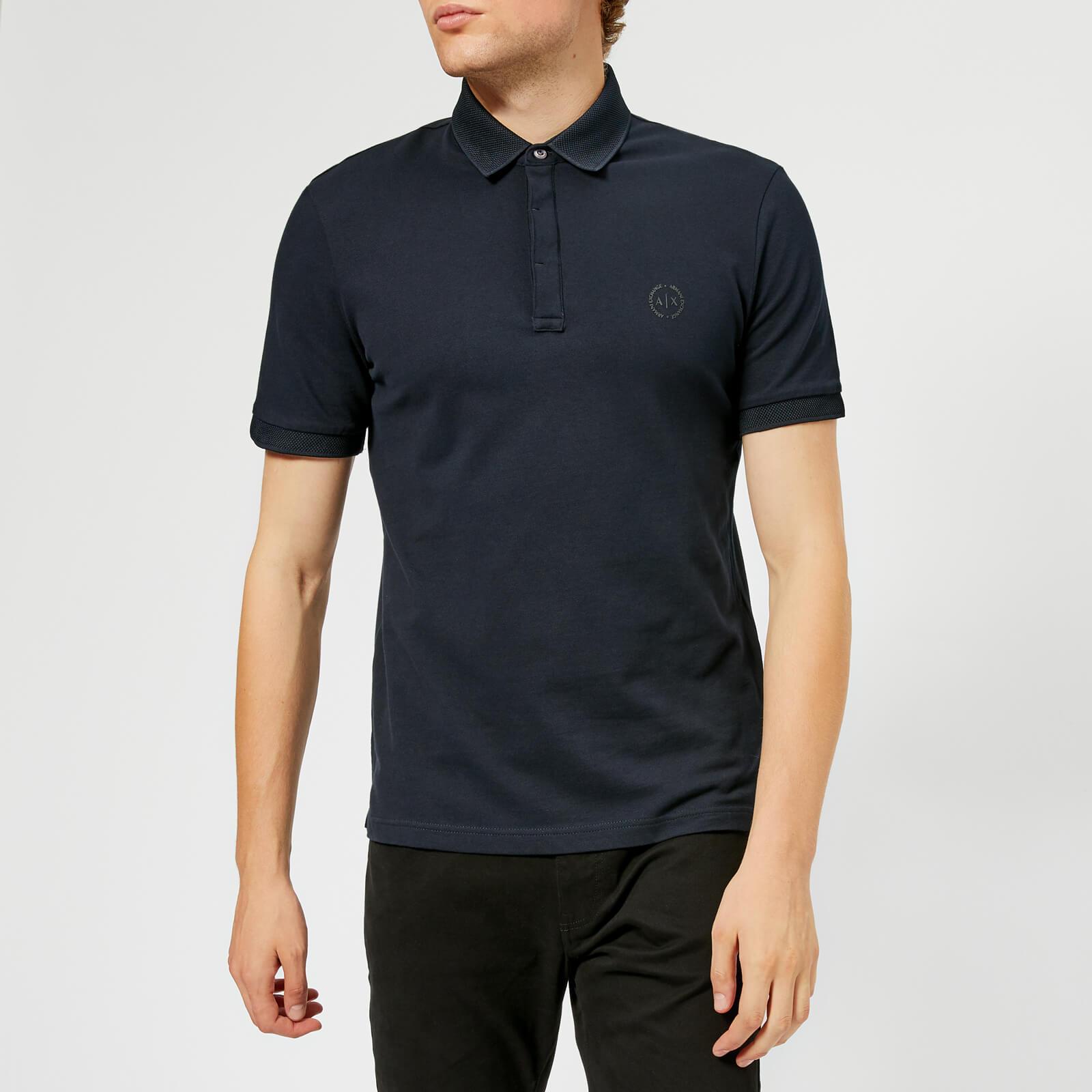 095c43936 Armani Exchange Men s Tonal Logo Polo Shirt - Navy Clothing