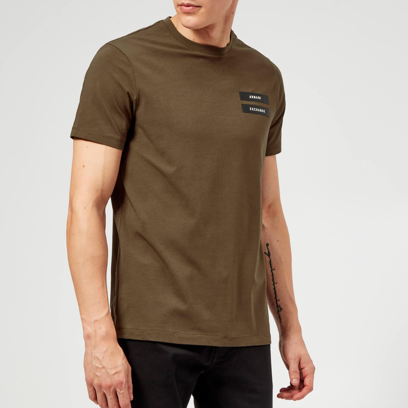 556e70e818 Armani Exchange Men's Military Logo T-Shirt - Wren Clothing | TheHut.com