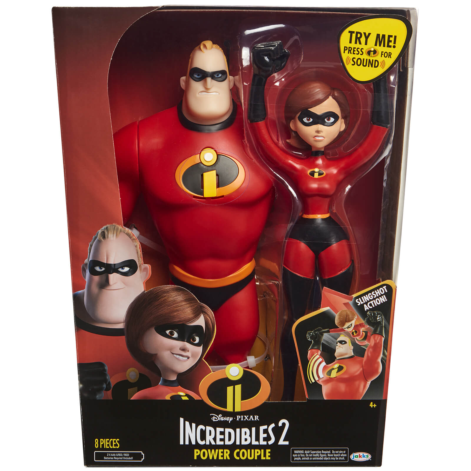 Jakks Pacific Disney Incredibles 2 12 Inch Mrs. and Mr. Incredible Figures