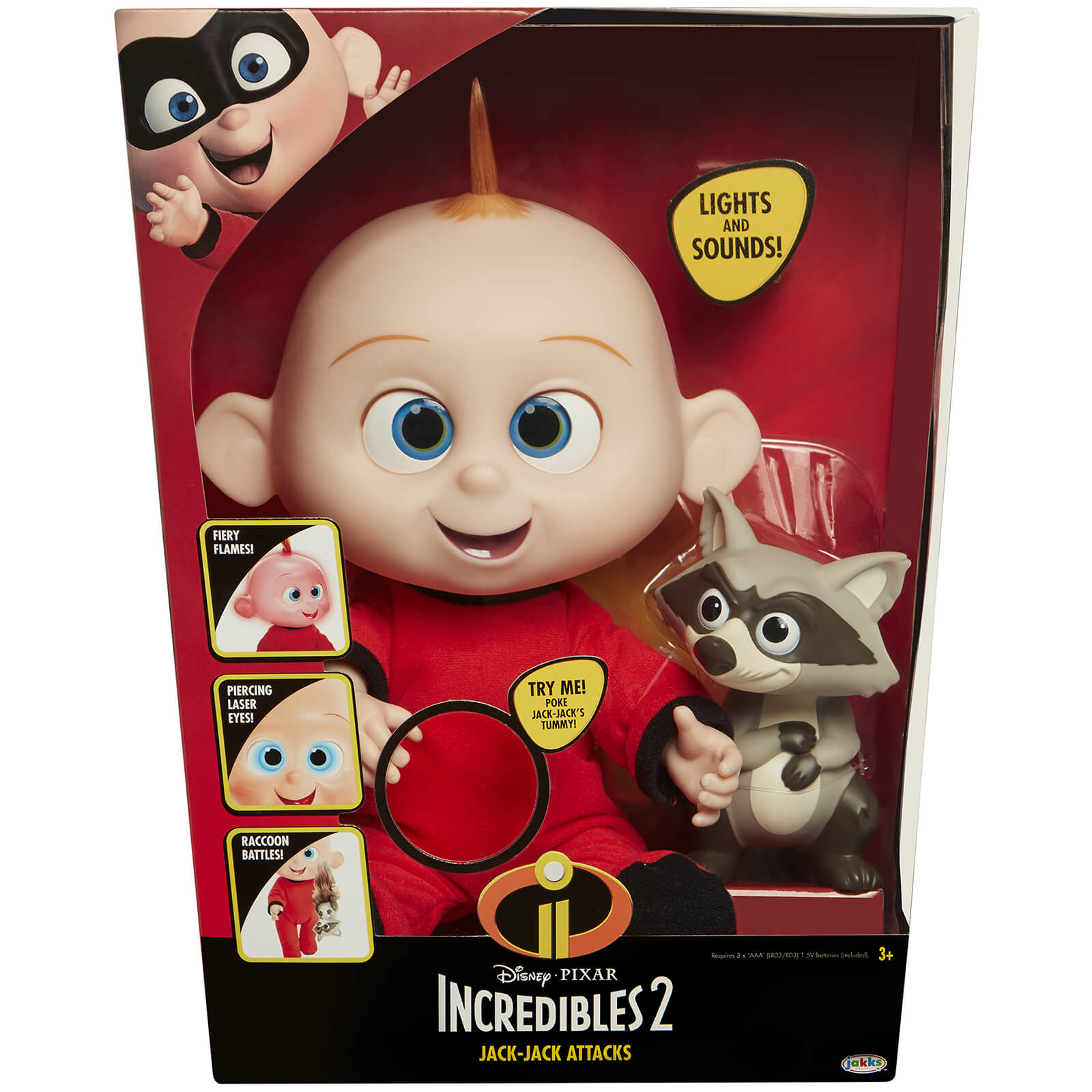 Jakks Pacific Disney Incredibles 2 Jack Jack Action Doll