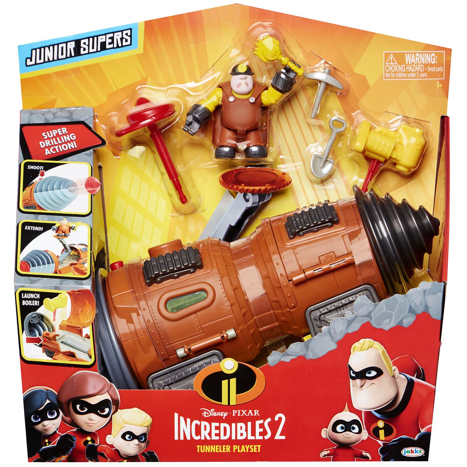 69a8bd2f592 Jakks Pacific Disney Incredibles 2 Underminer Vehicle Toys | Zavvi US