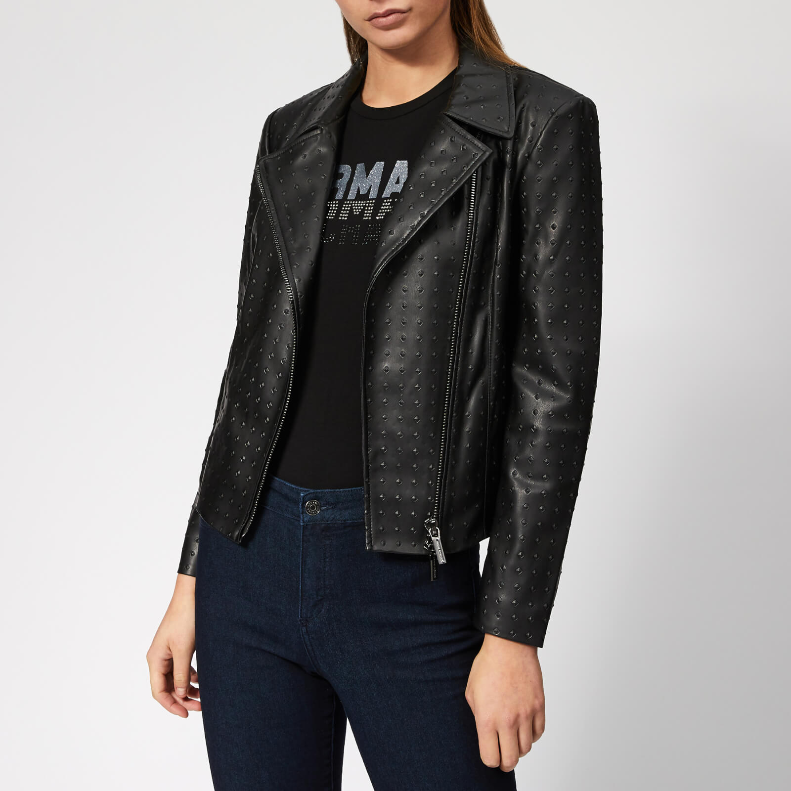 f6eaf14e5 Armani Exchange Women's Biker Jacket - Black Womens Clothing ...