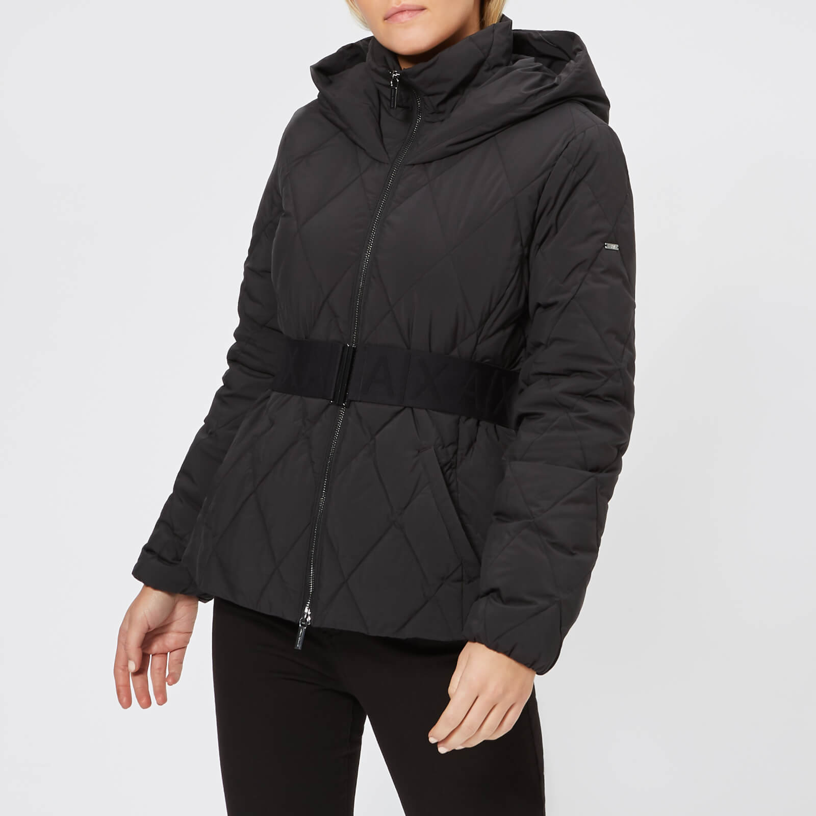 a072f2ab9 Armani Exchange Women's Short Quilted Hooded Coat - Black