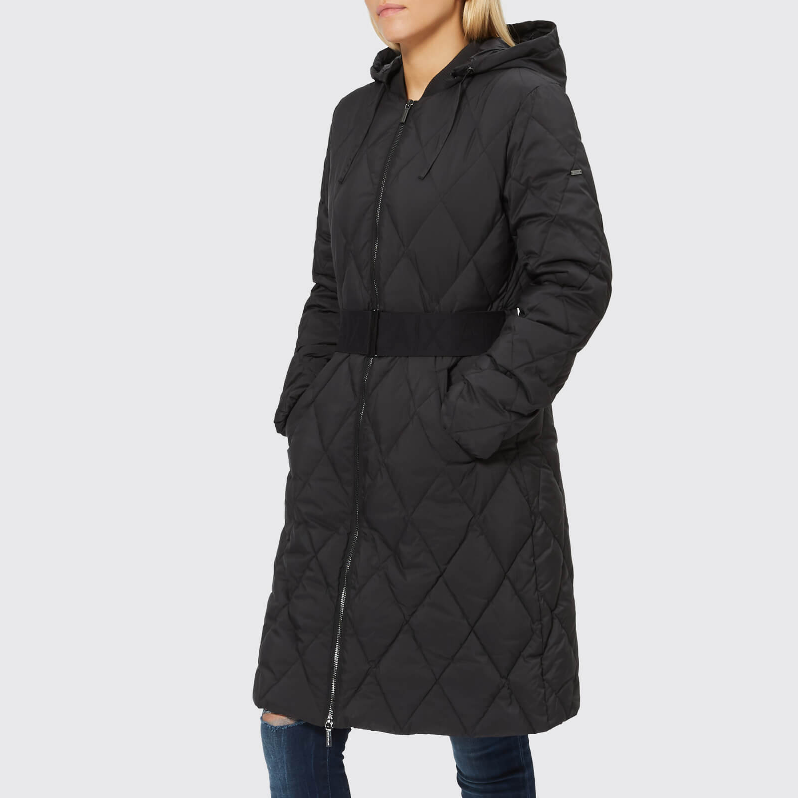 06843a546 Armani Exchange Women's Long Quilted Down Coat - Black