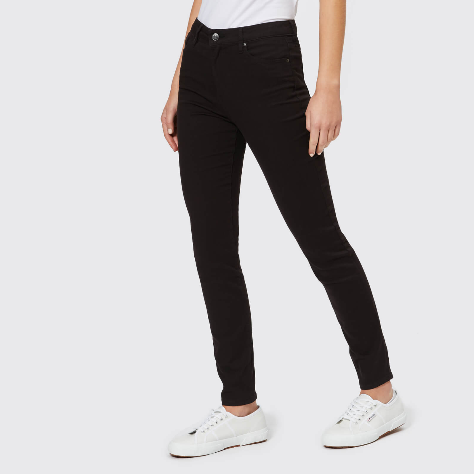 aa5bb512ed957 Armani Exchange Women's 5 Pocket Super Skinny High Rise Jeans - Black Denim  Clothing | TheHut.com