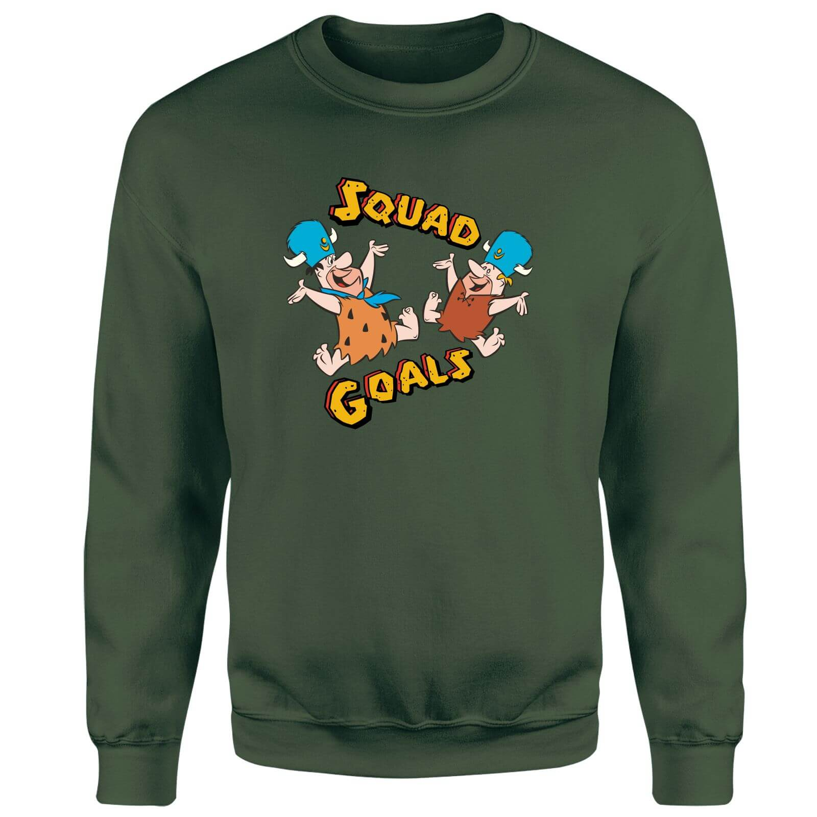 The Flintstones Squad Goals Sweatshirt - Forest Green