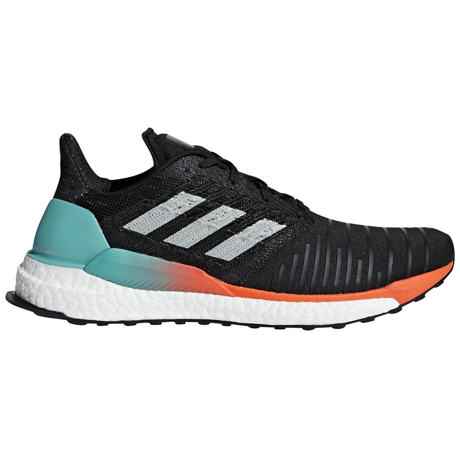 adidas Solar Boost Running Shoes - Black/Aqua