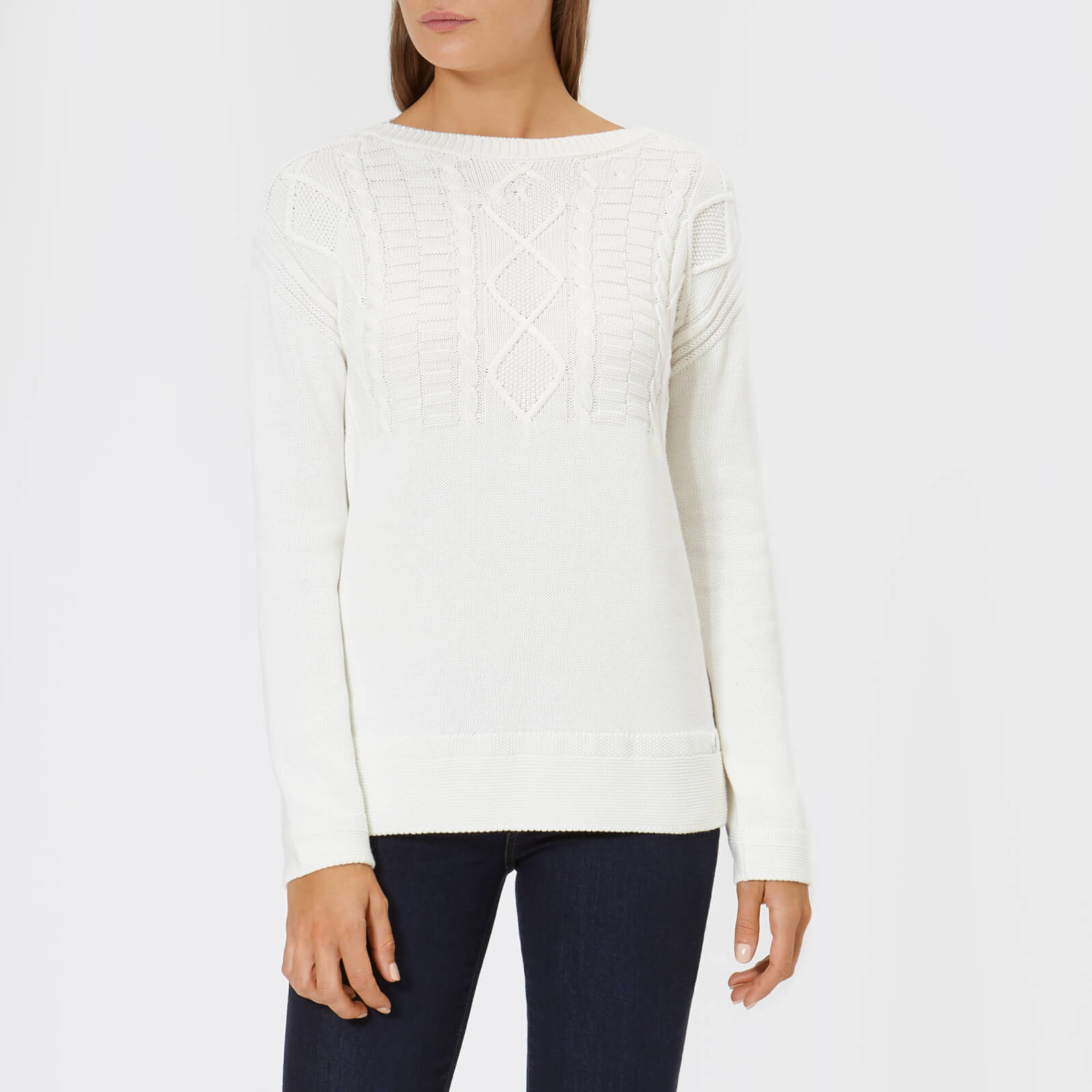 f505c6453bd4 Barbour Women s Weymouth Knit Jumper - Off White Womens Clothing ...