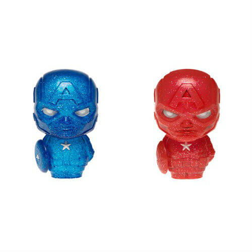 Marvel Captain America Red and Blue Hikari XS Vinyl Figure 2 Pack