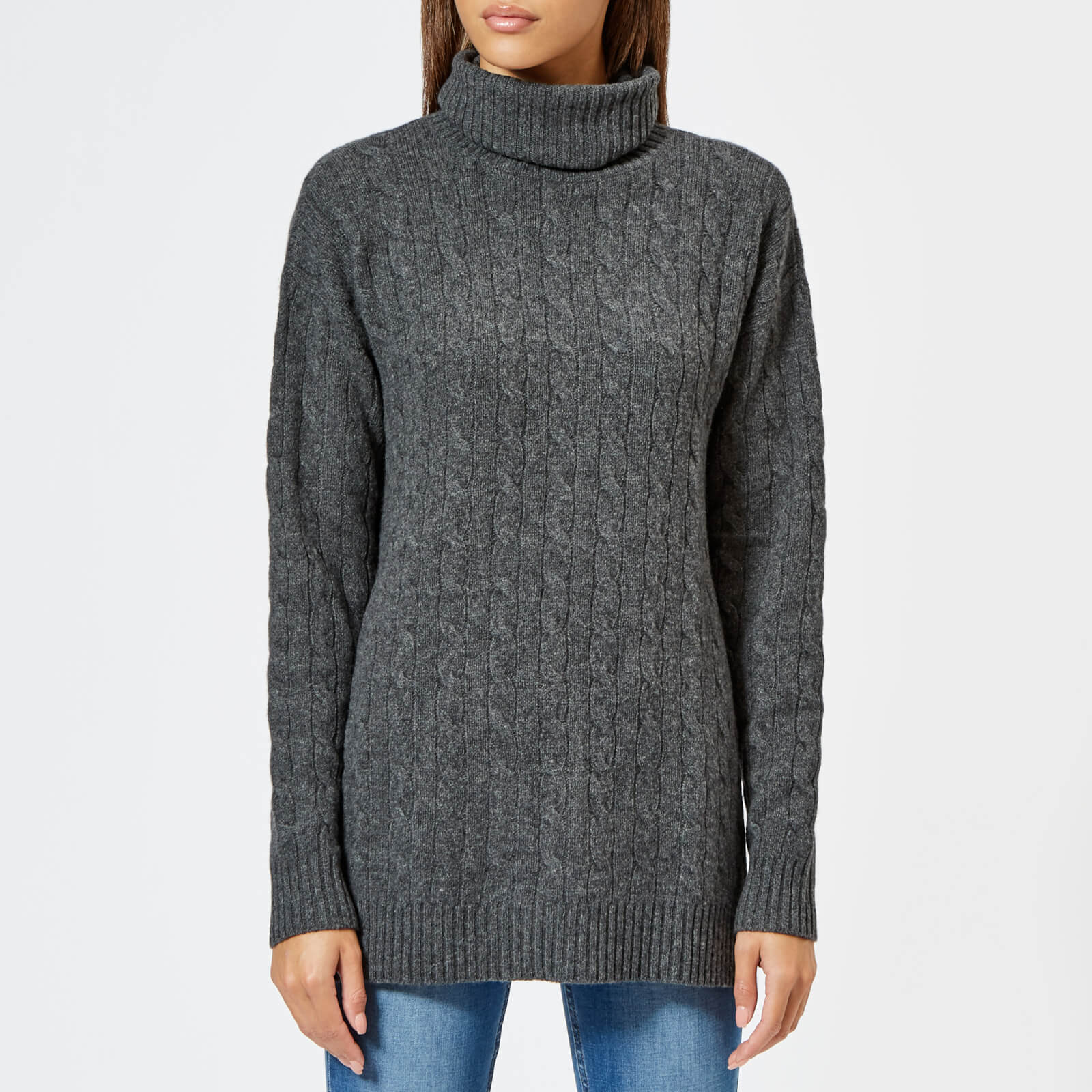 d1549e5c91a Polo Ralph Lauren Women s Wool And Cashmere Blend Roll Neck Jumper - Grey -  Free UK Delivery over £50