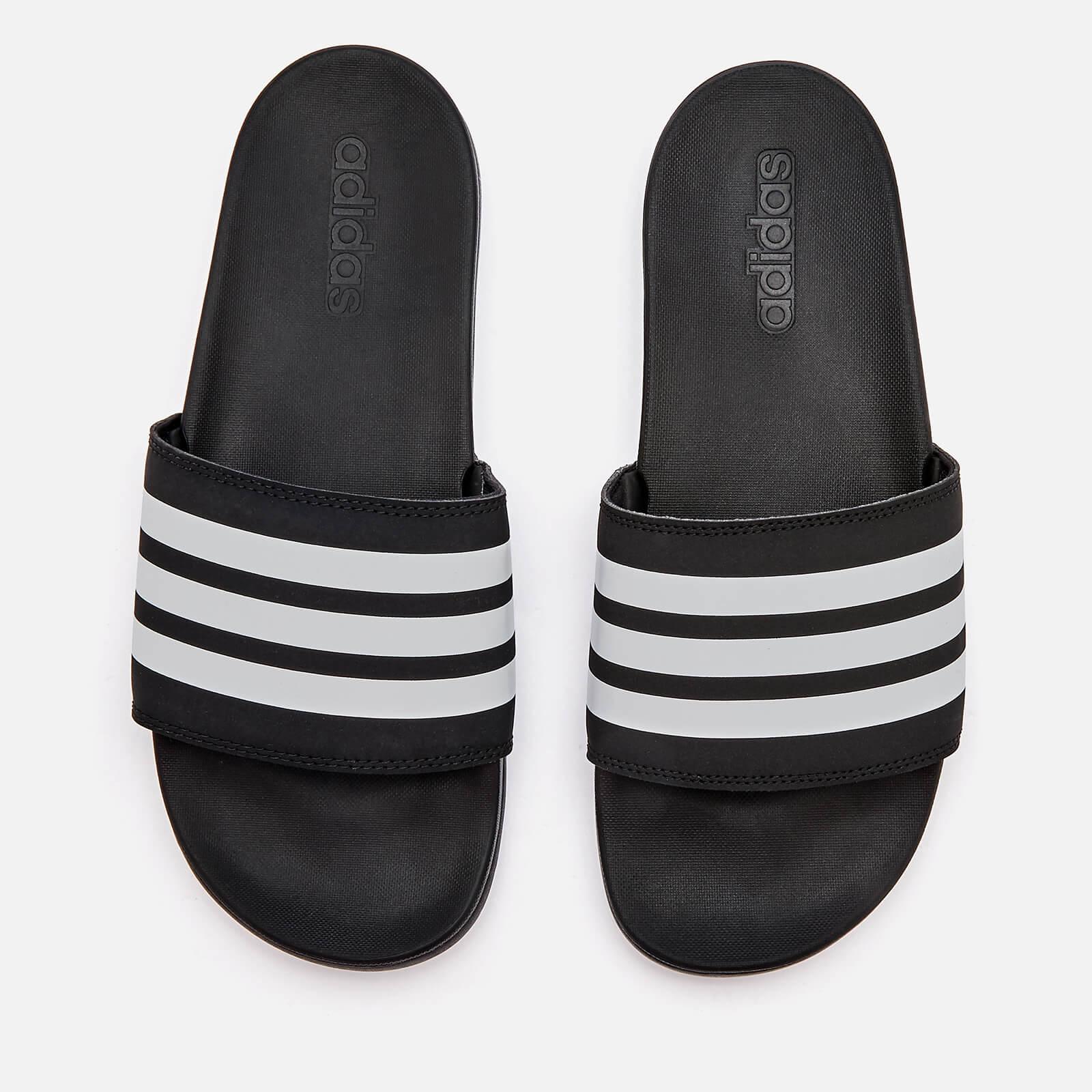 b80916adfb434 adidas Men's Adilette Comfort Slide Sandals - Core Black