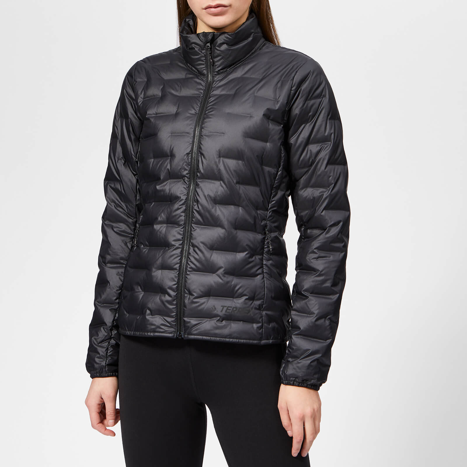 Black Women's Light Jacket Adidas Down y8vmOn0wN