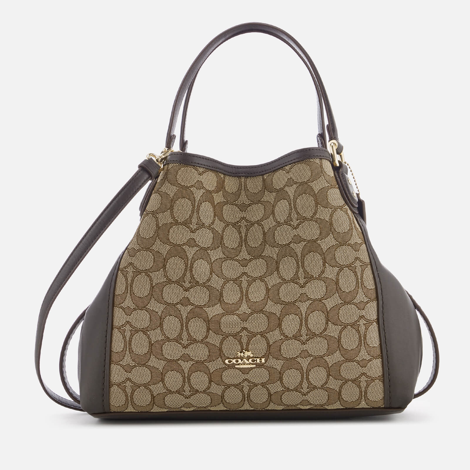bb54b24f14c6 Coach Women s Edie 28 Shoulder Bag - Khaki Brown - Free UK Delivery over £50