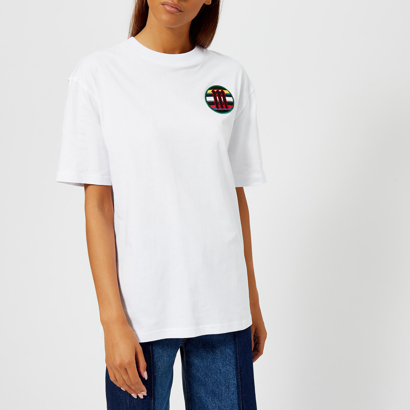 f69f247b McQ Alexander McQueen Women's Boyfriend Scout Badge T-Shirt - Free UK  Delivery over £50