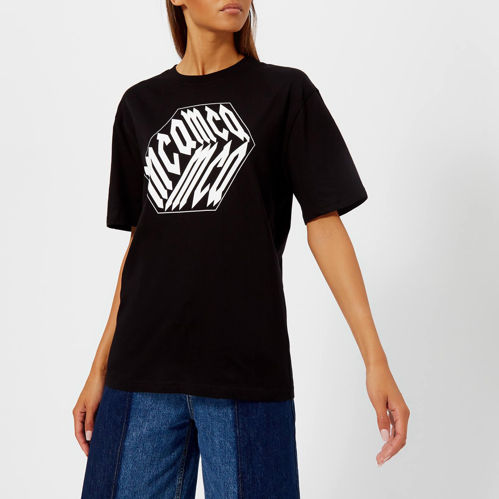 cba2e694 McQ Alexander McQueen Women's Boyfriend T-Shirt - Darkest Black - Free UK  Delivery over £50