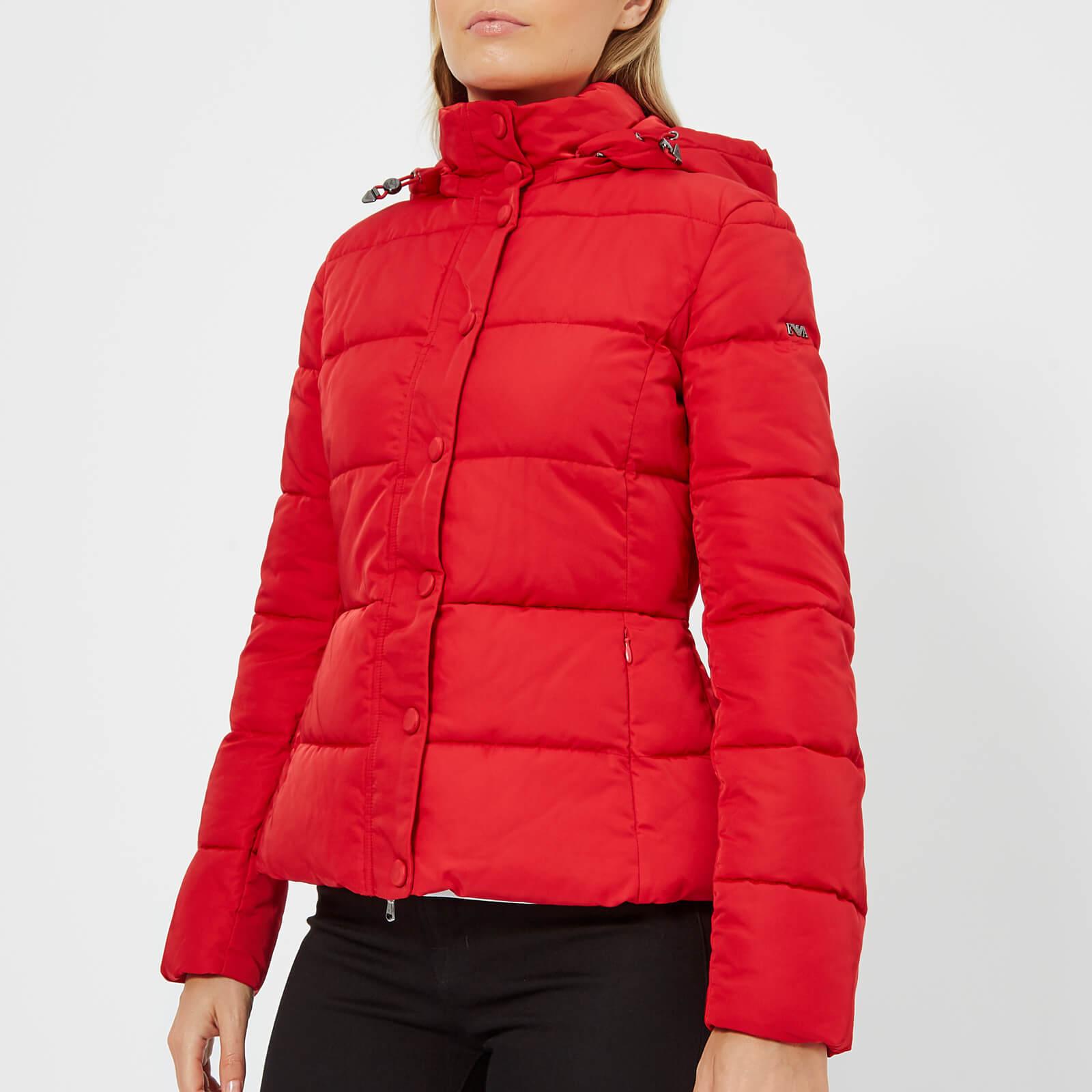 76f68195 Emporio Armani Women's Short Hooded Puffa Jacket - Red