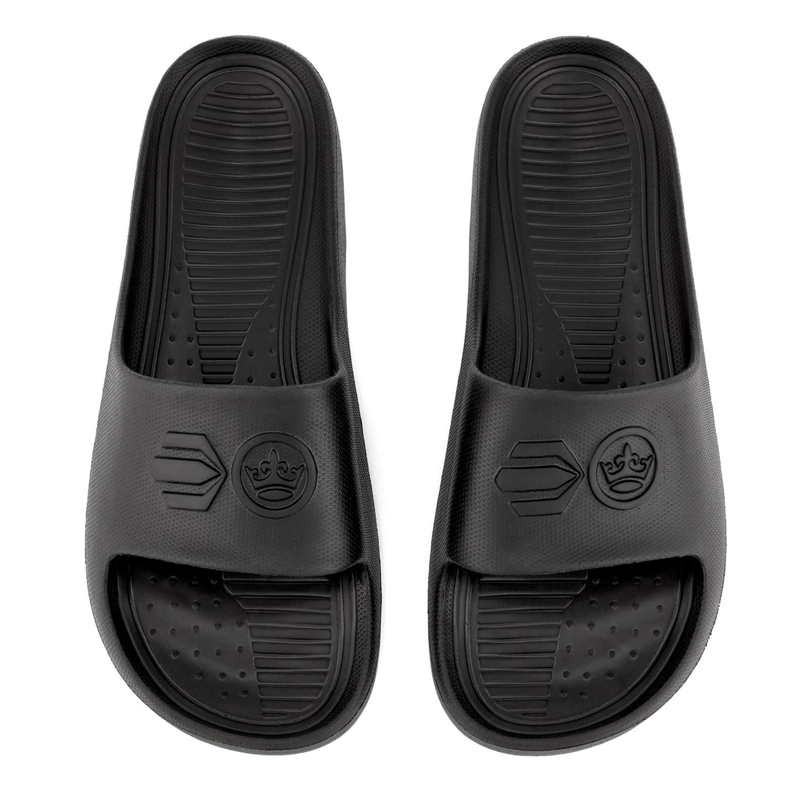 d26279b5c847 Crosshatch Men s Oreti Sliders - Black Mens Footwear