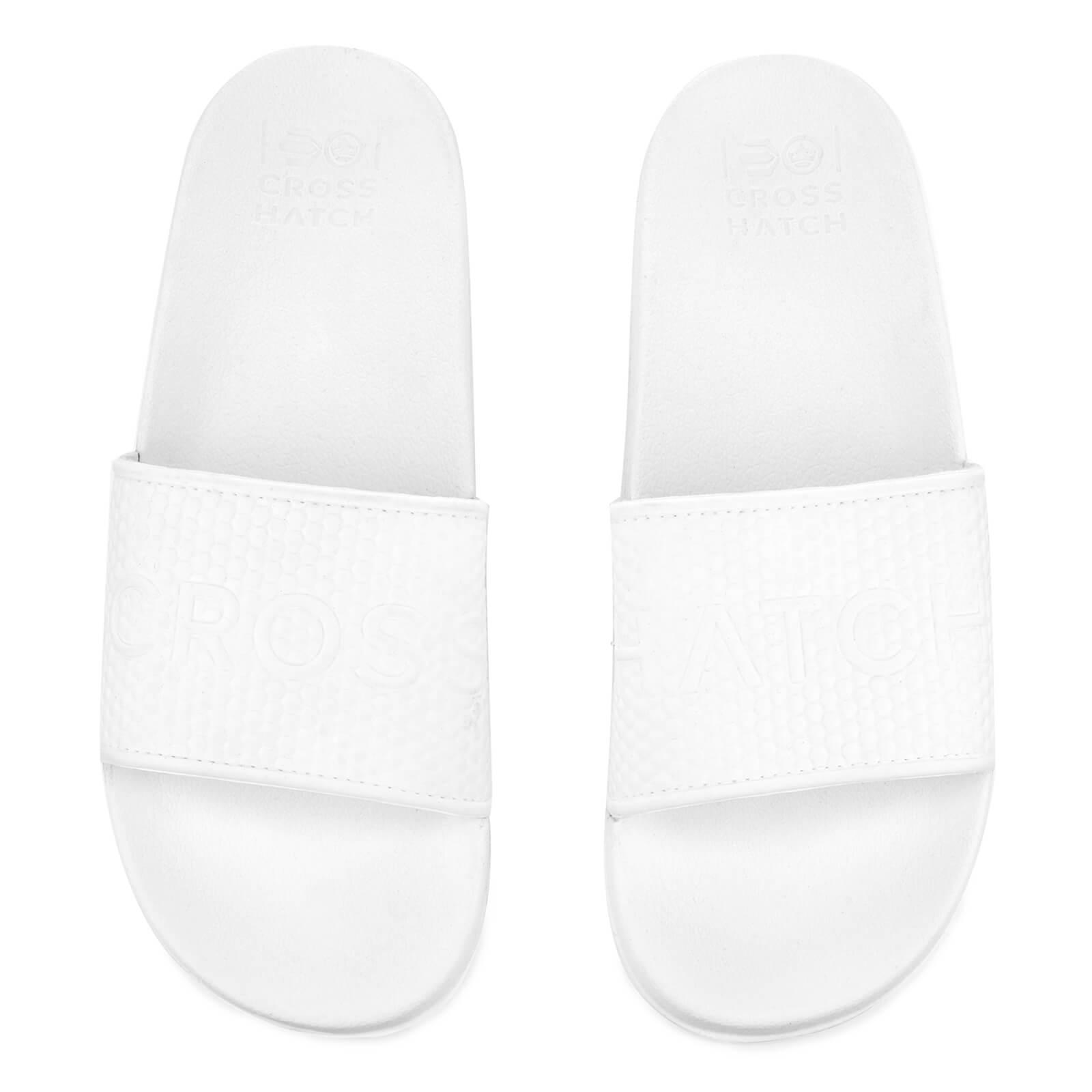 e5bc93315849 Crosshatch Men s Tulum Sliders - White Mens Footwear