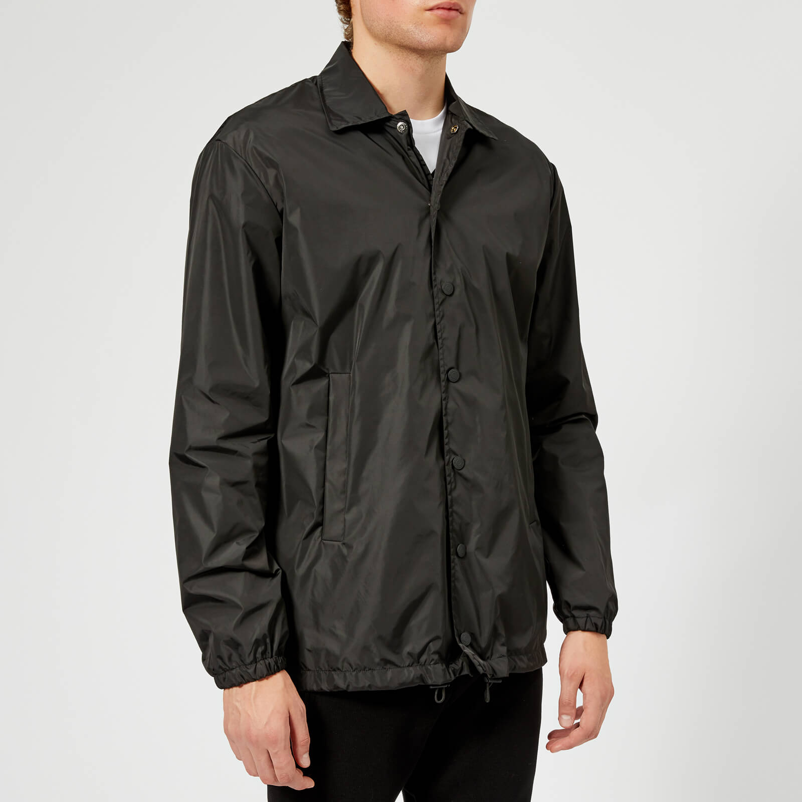 e44eb75b4 Dsquared2 Men's Nylon Coach Jacket - Black/White Print - Free UK Delivery  over £50